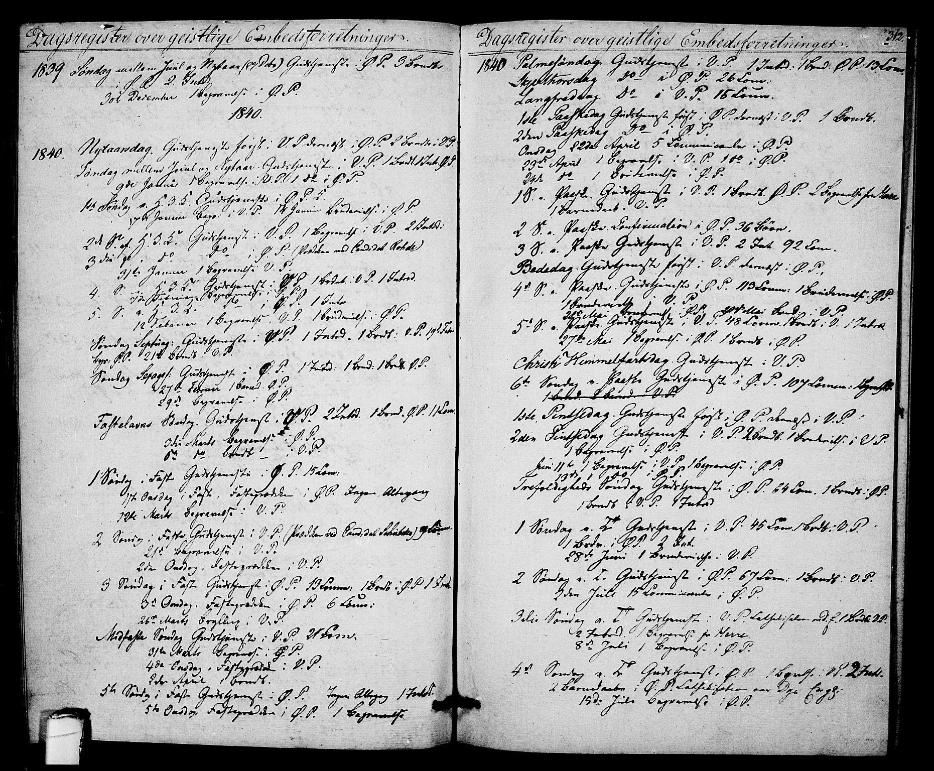 SAKO, Porsgrunn kirkebøker , F/Fa/L0005: Ministerialbok nr. 5, 1828-1840, s. 312
