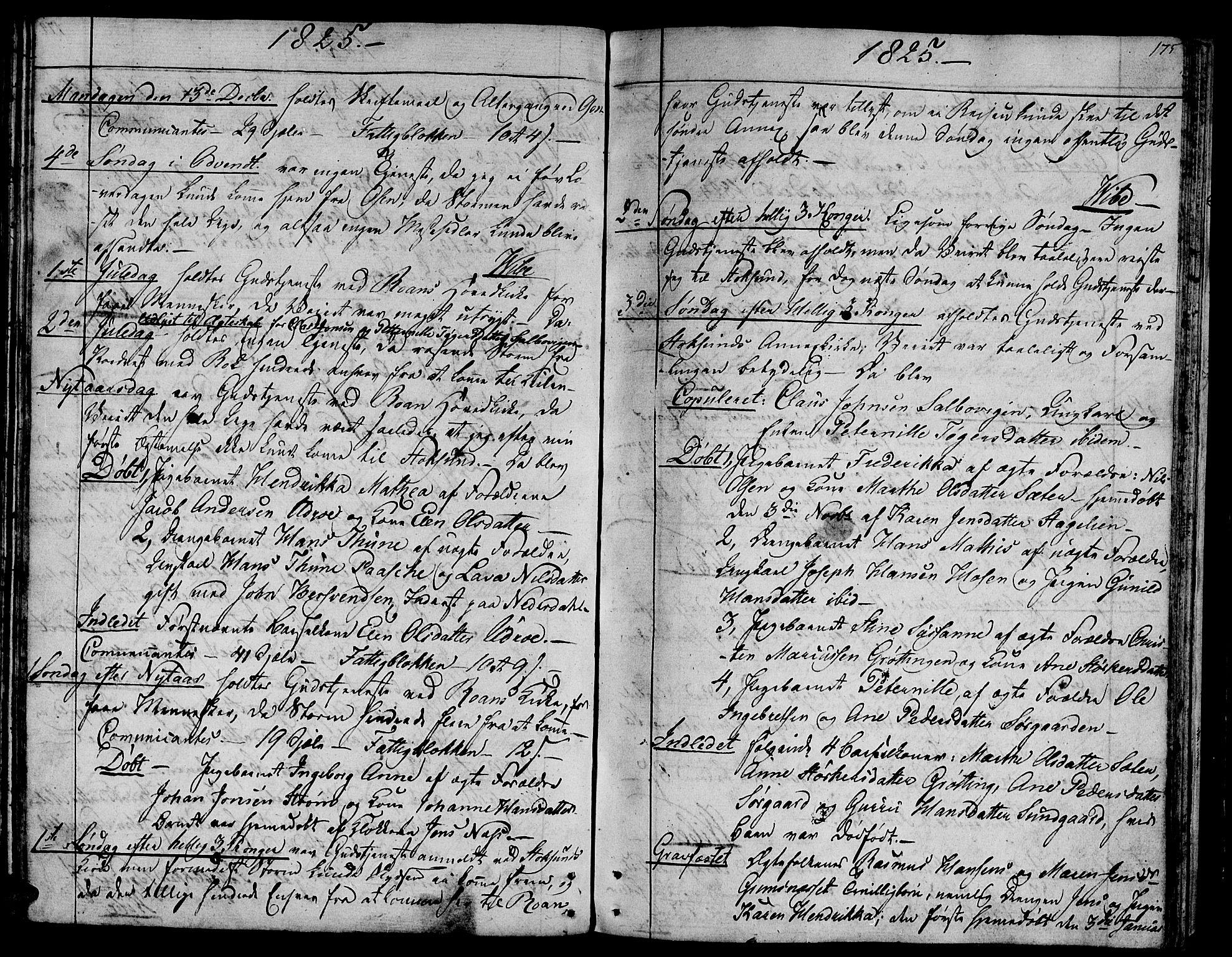 SAT, Ministerialprotokoller, klokkerbøker og fødselsregistre - Sør-Trøndelag, 657/L0701: Ministerialbok nr. 657A02, 1802-1831, s. 175