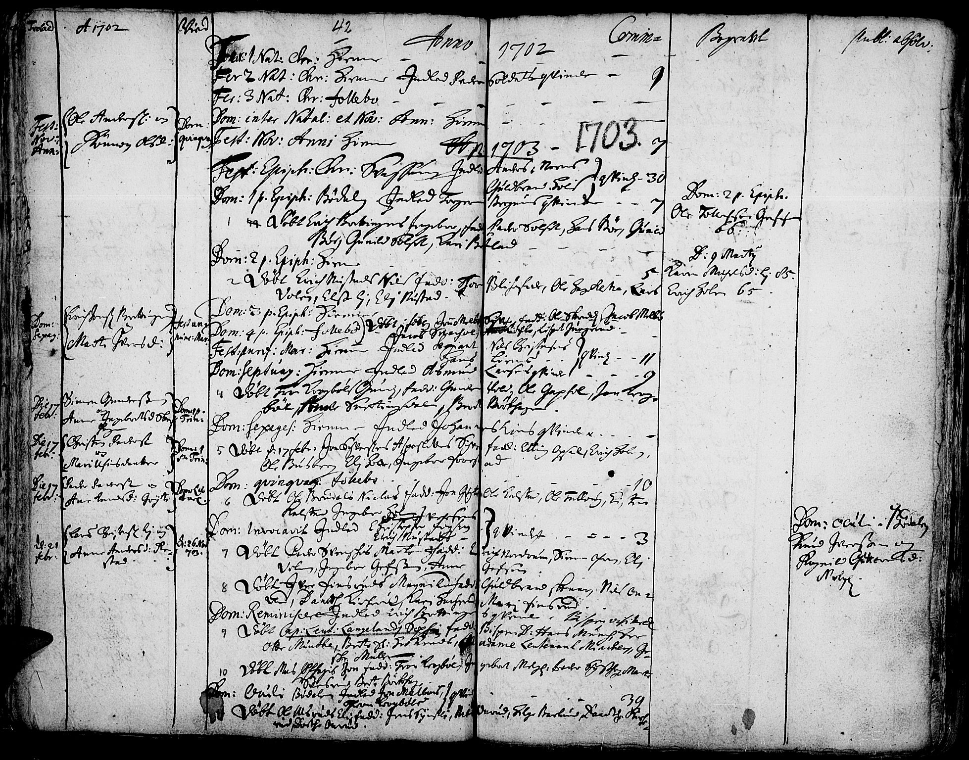 SAH, Gausdal prestekontor, Ministerialbok nr. 1, 1693-1728, s. 42