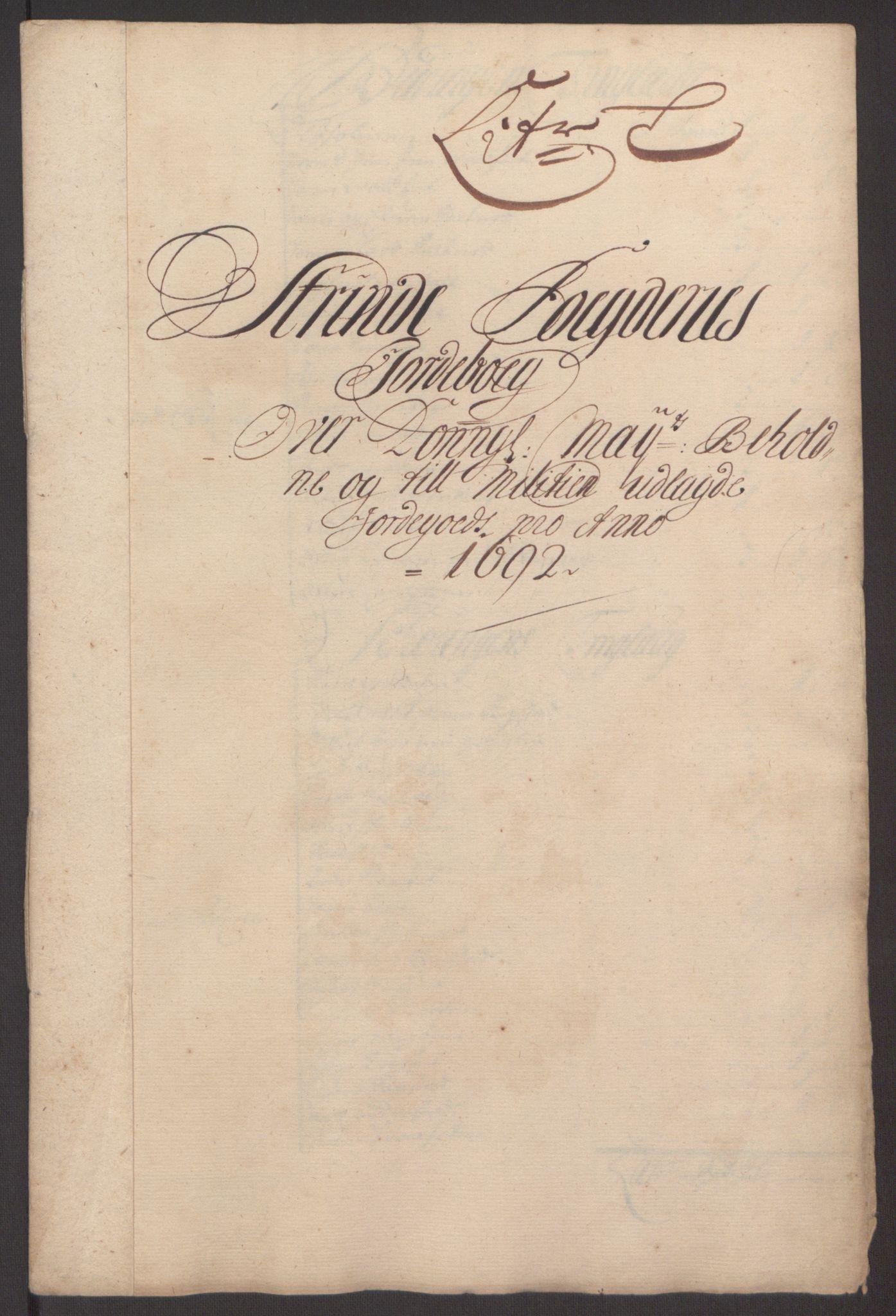 RA, Rentekammeret inntil 1814, Reviderte regnskaper, Fogderegnskap, R61/L4103: Fogderegnskap Strinda og Selbu, 1691-1692, s. 343