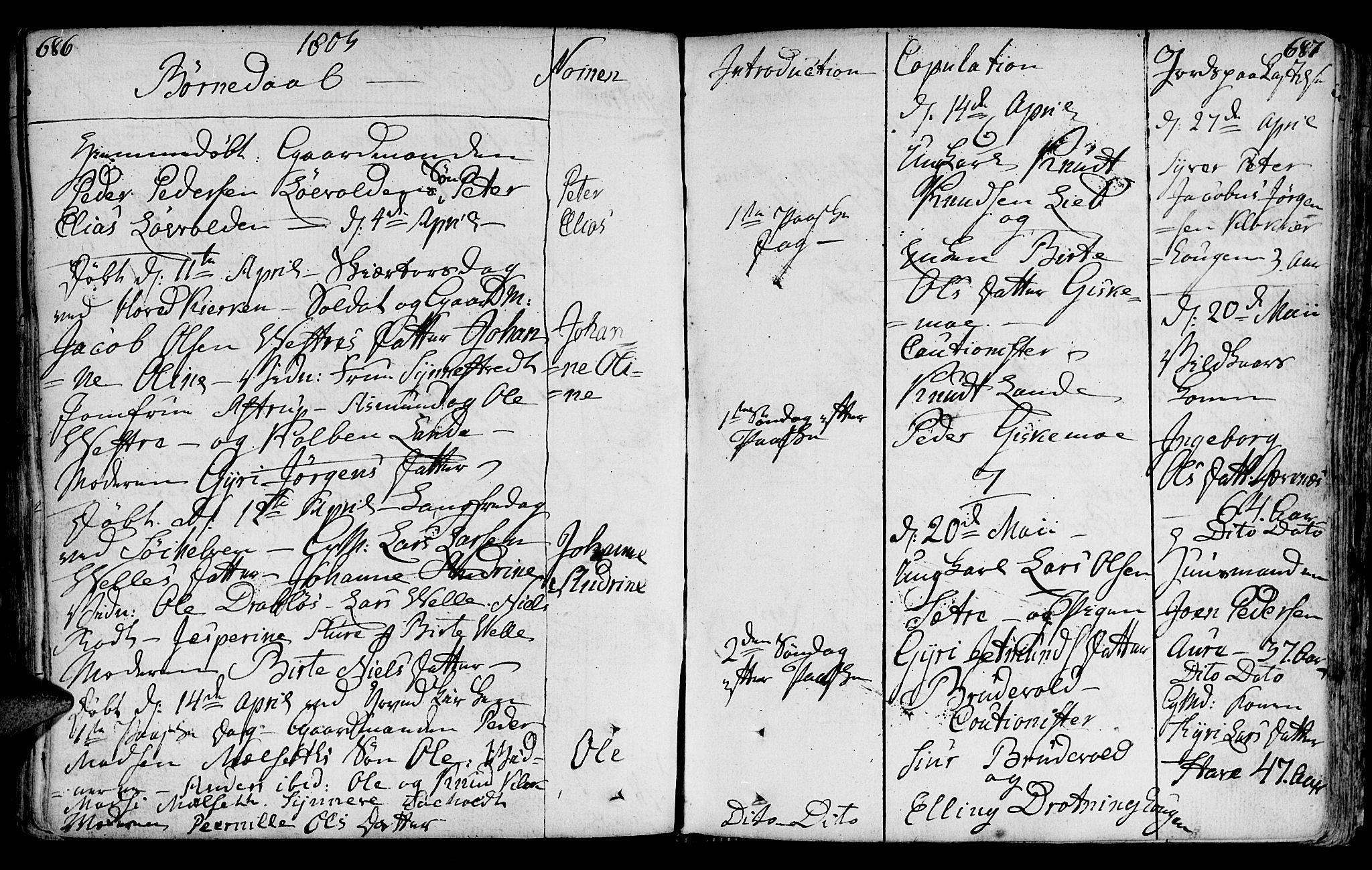 SAT, Ministerialprotokoller, klokkerbøker og fødselsregistre - Møre og Romsdal, 522/L0308: Ministerialbok nr. 522A03, 1773-1809, s. 686-687