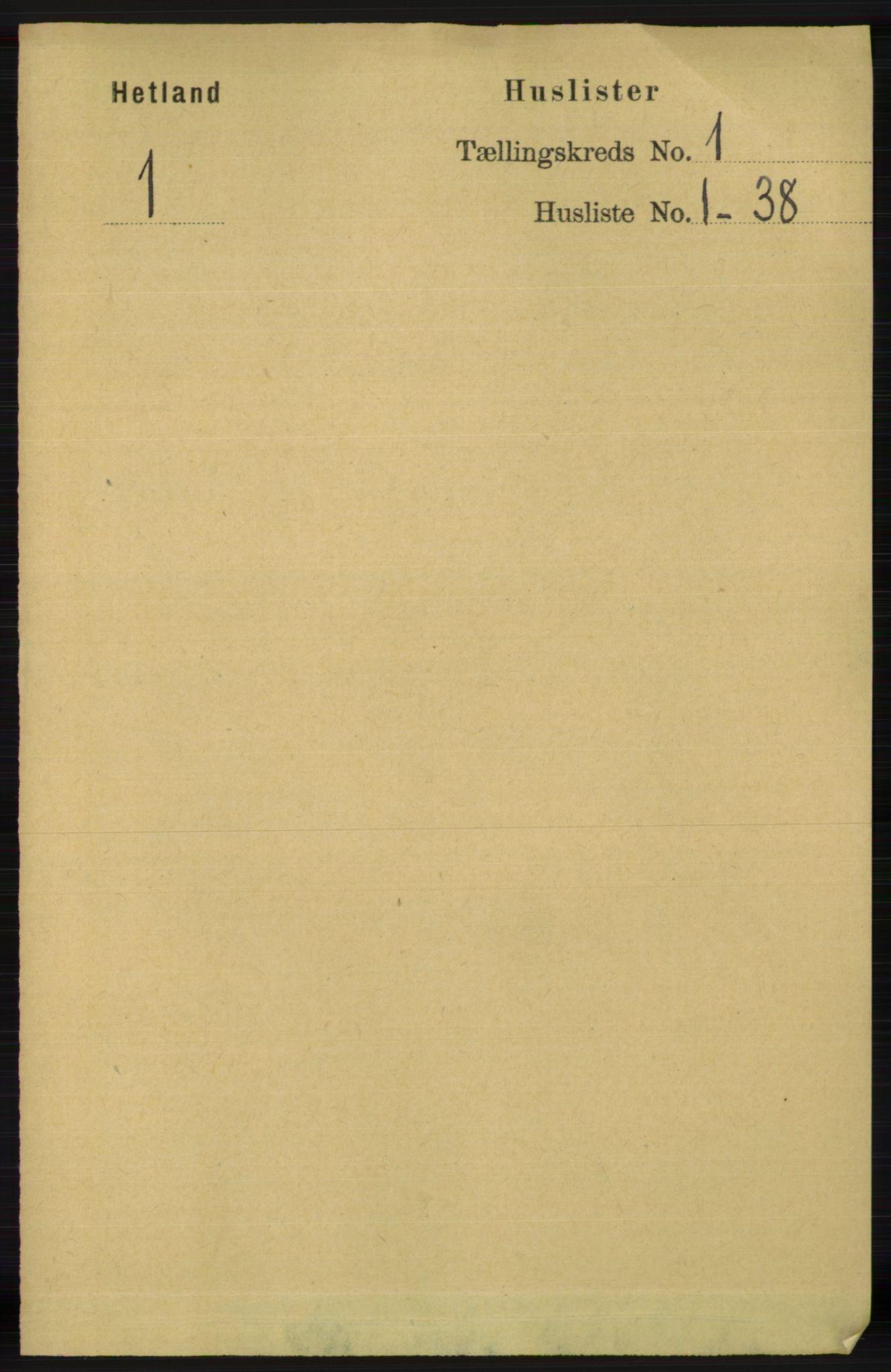 RA, Folketelling 1891 for 1126 Hetland herred, 1891, s. 27