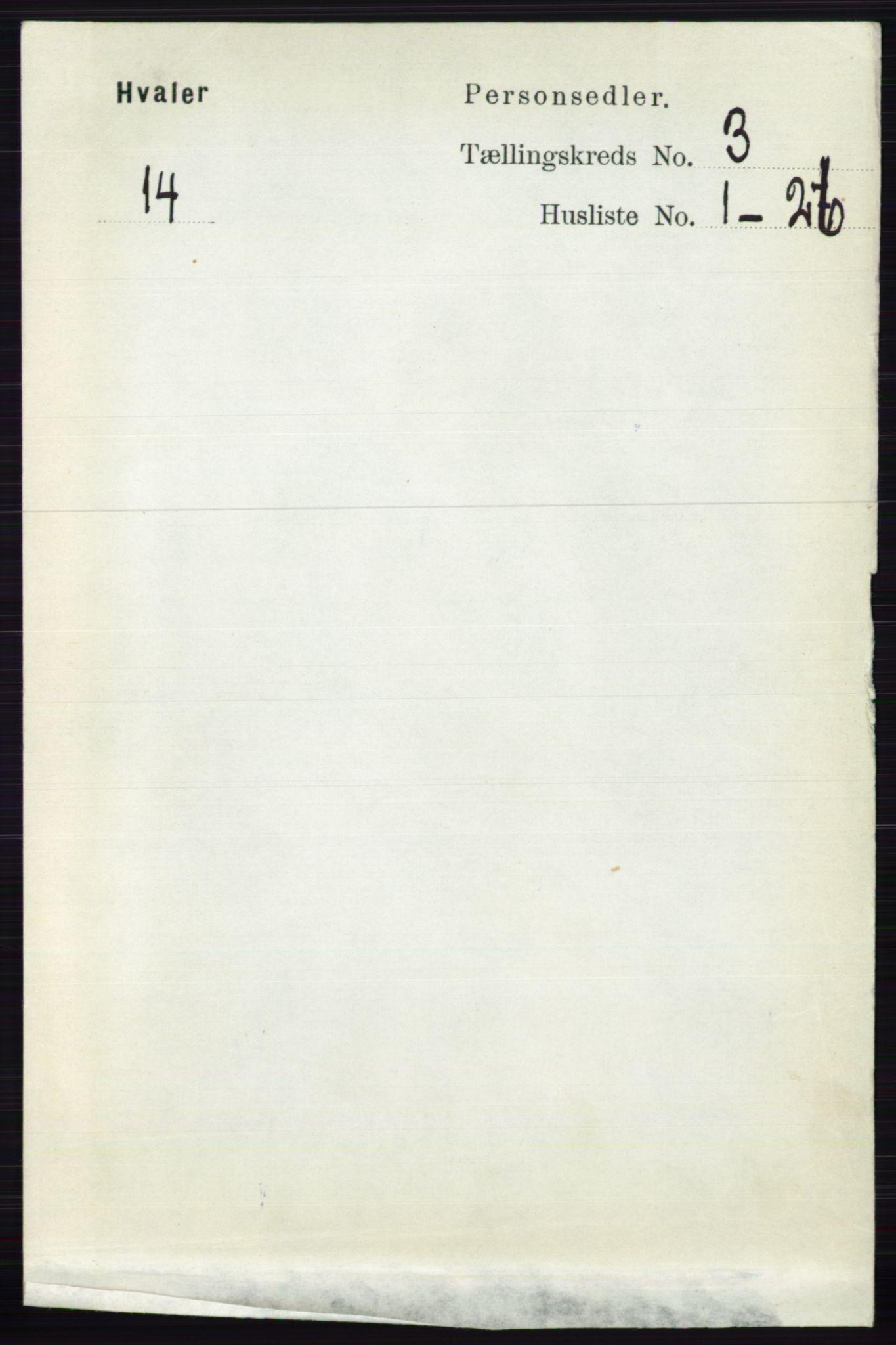 RA, Folketelling 1891 for 0111 Hvaler herred, 1891, s. 1854