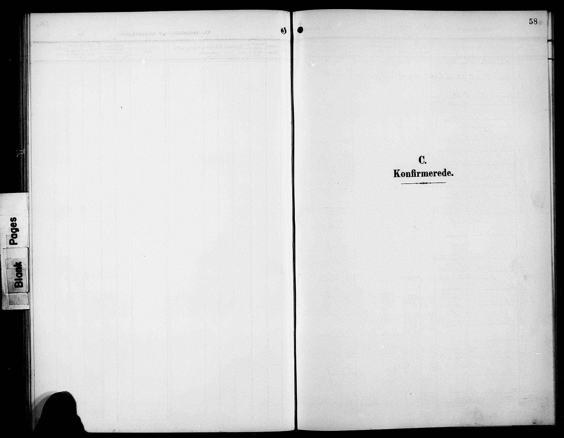 SAB, Bremanger Sokneprestembete, H/Hab: Klokkerbok nr. C 1, 1908-1919, s. 58