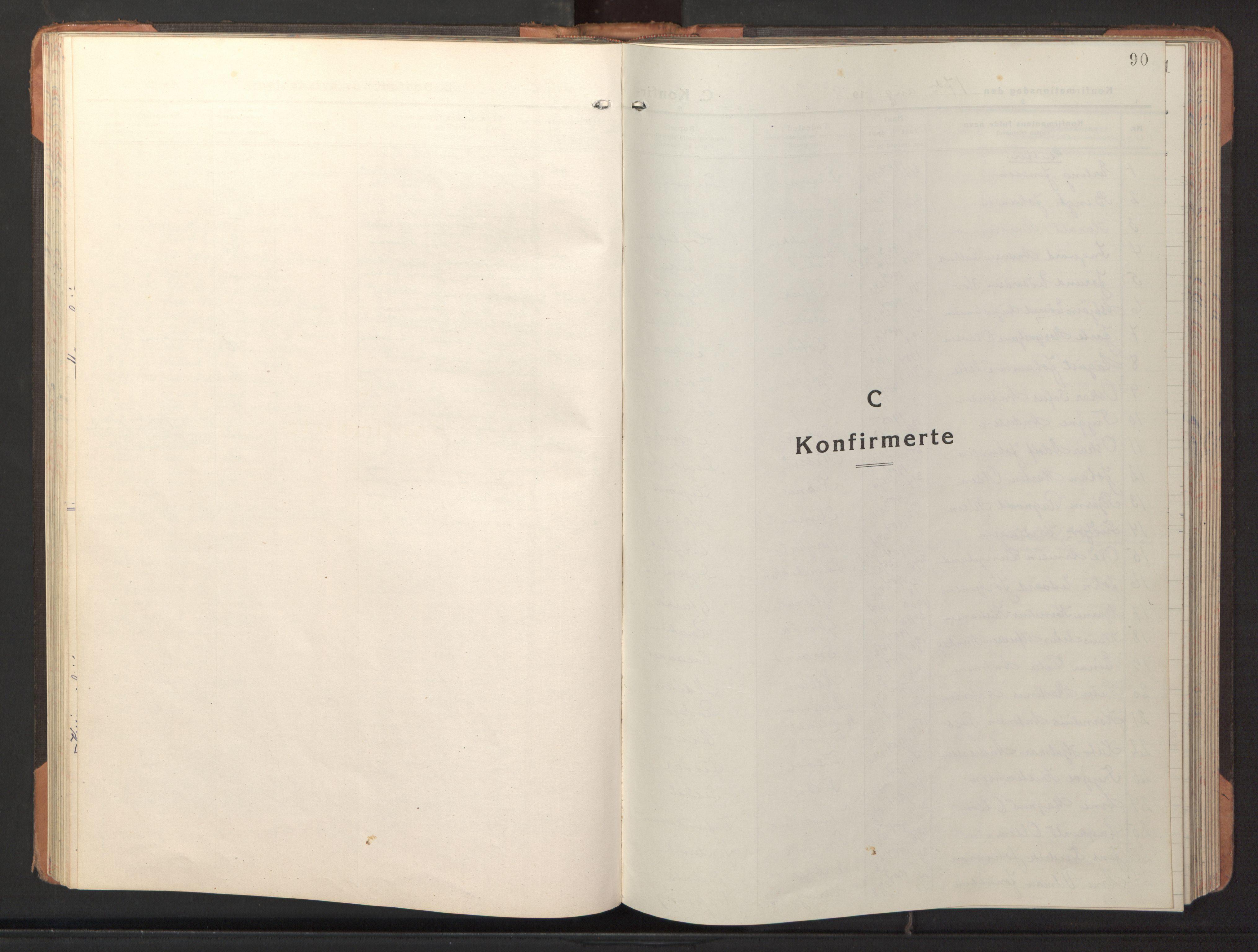 SAT, Ministerialprotokoller, klokkerbøker og fødselsregistre - Sør-Trøndelag, 653/L0658: Klokkerbok nr. 653C02, 1919-1947, s. 90