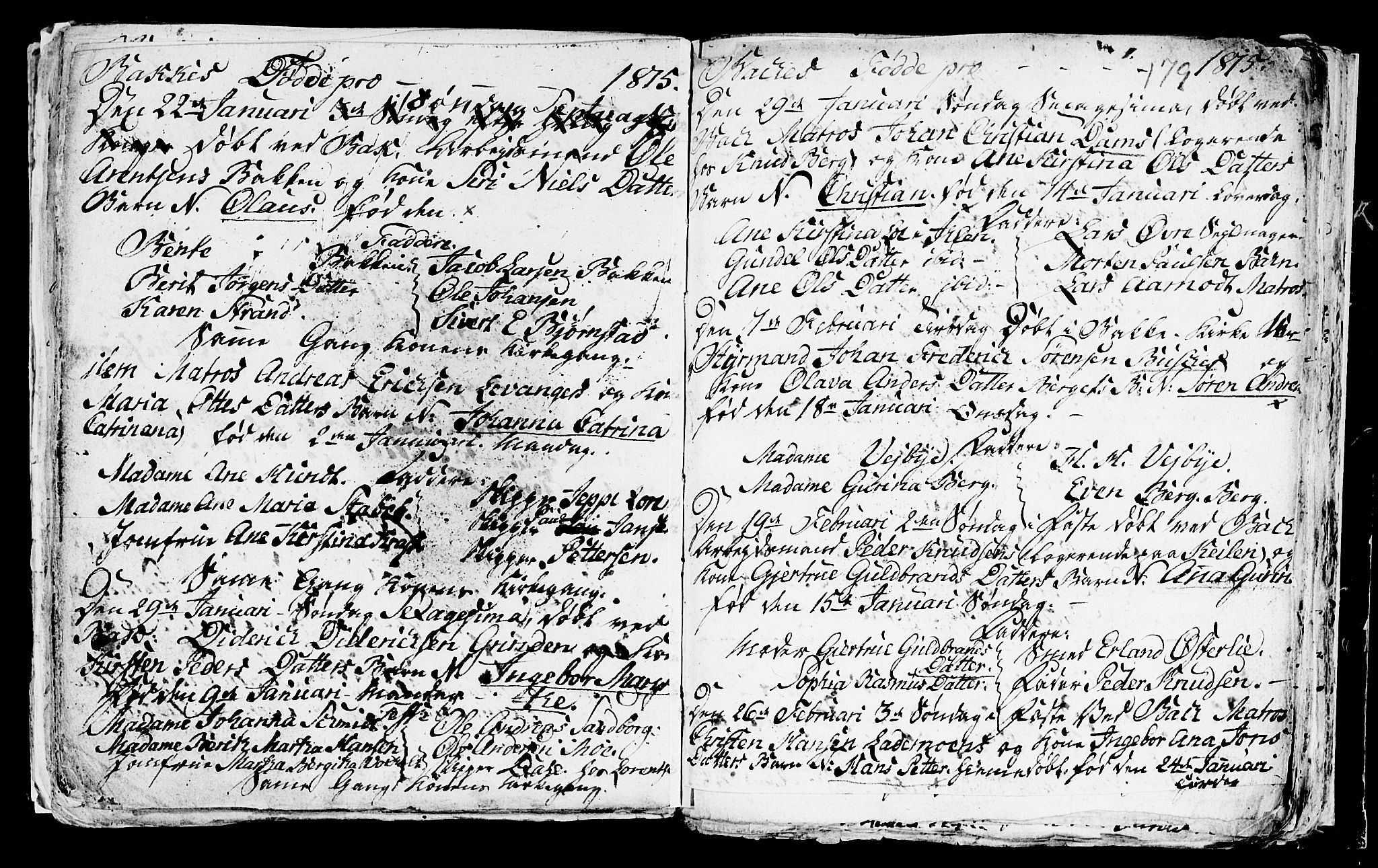 SAT, Ministerialprotokoller, klokkerbøker og fødselsregistre - Sør-Trøndelag, 604/L0218: Klokkerbok nr. 604C01, 1754-1819, s. 179