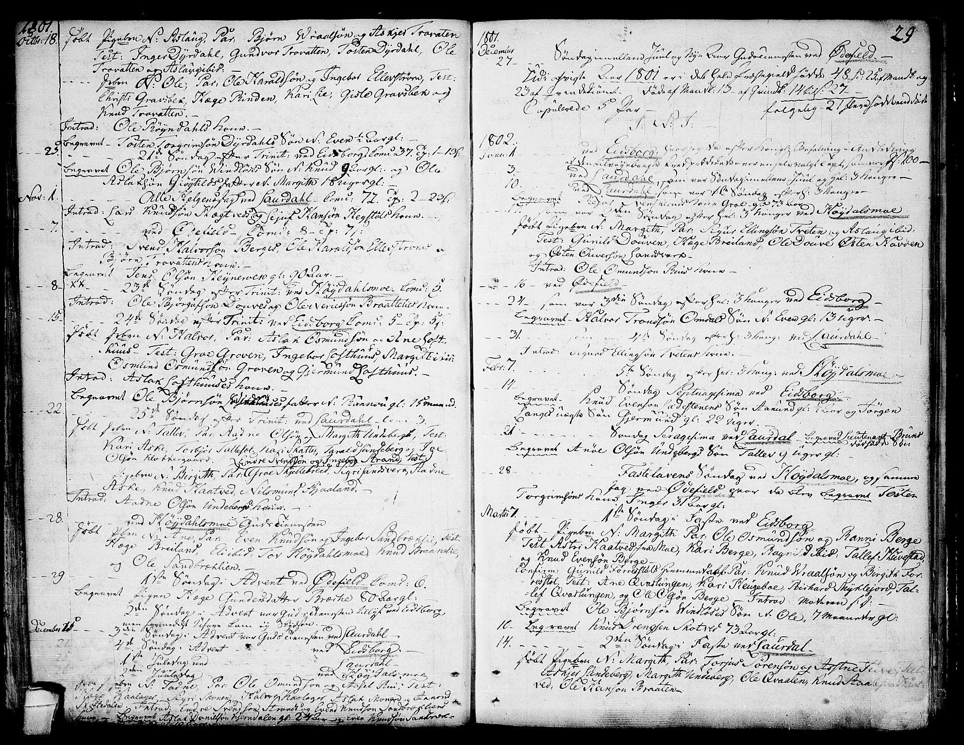 SAKO, Lårdal kirkebøker, F/Fa/L0004: Ministerialbok nr. I 4, 1790-1814, s. 29