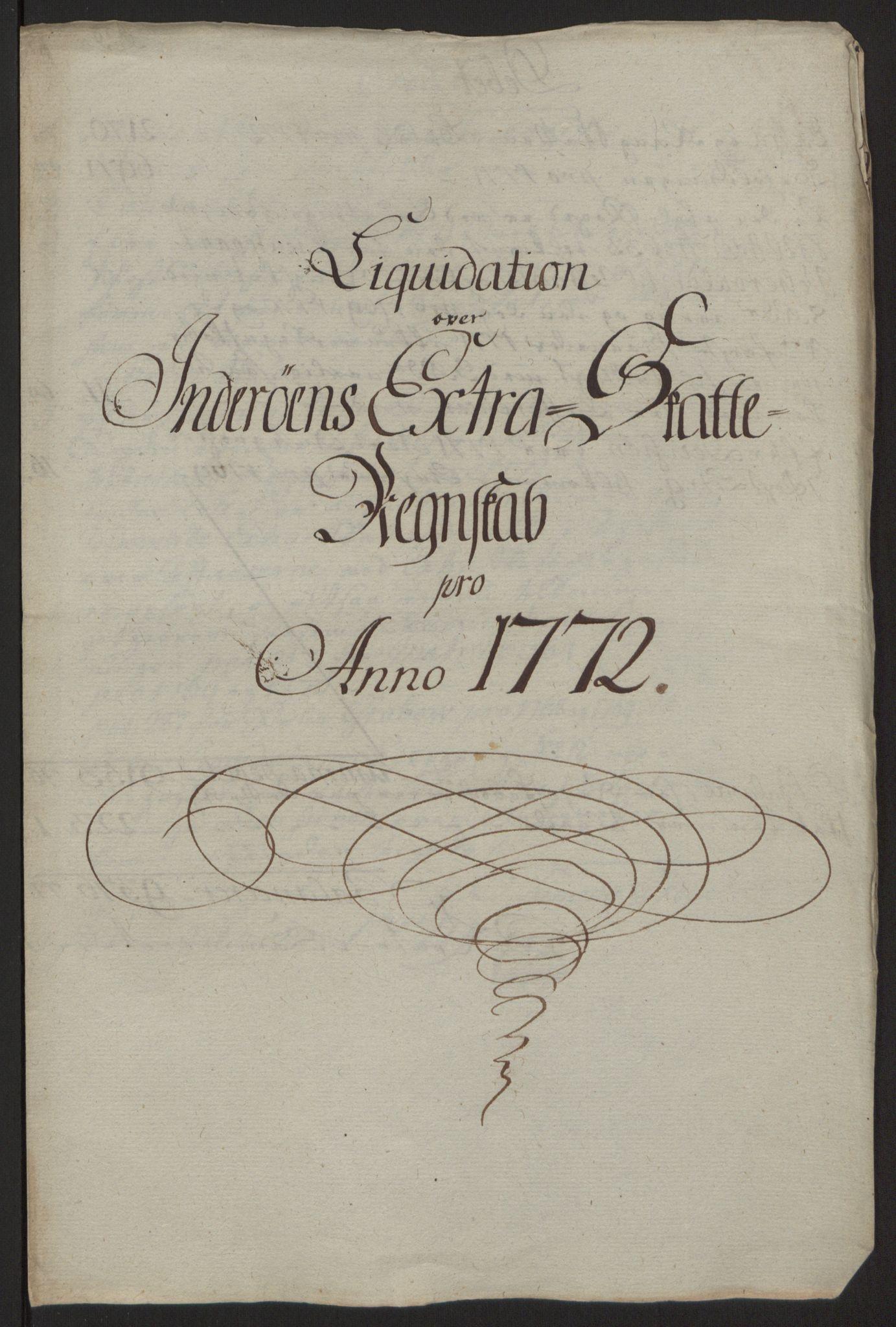 RA, Rentekammeret inntil 1814, Reviderte regnskaper, Fogderegnskap, R63/L4420: Ekstraskatten Inderøy, 1762-1772, s. 589