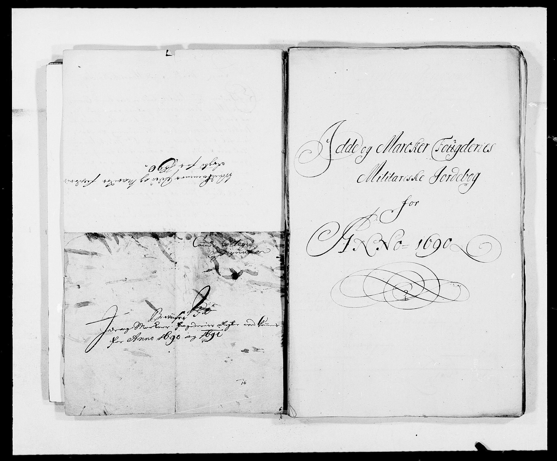 RA, Rentekammeret inntil 1814, Reviderte regnskaper, Fogderegnskap, R01/L0010: Fogderegnskap Idd og Marker, 1690-1691, s. 44