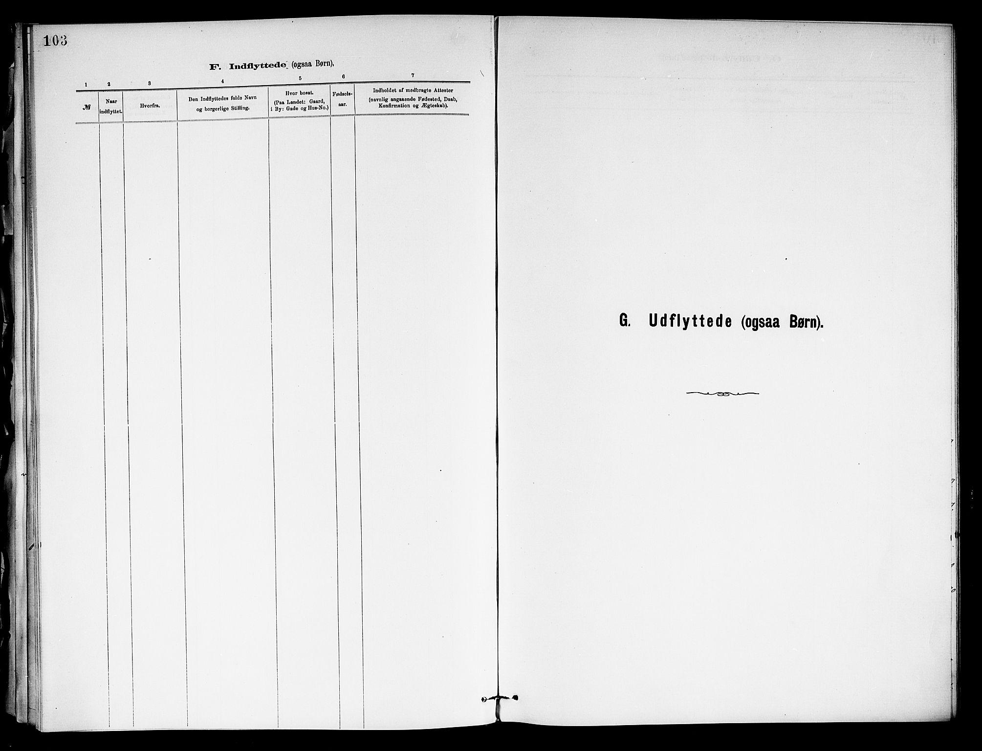 SAKO, Holla kirkebøker, F/Fa/L0009: Ministerialbok nr. 9, 1881-1897, s. 103