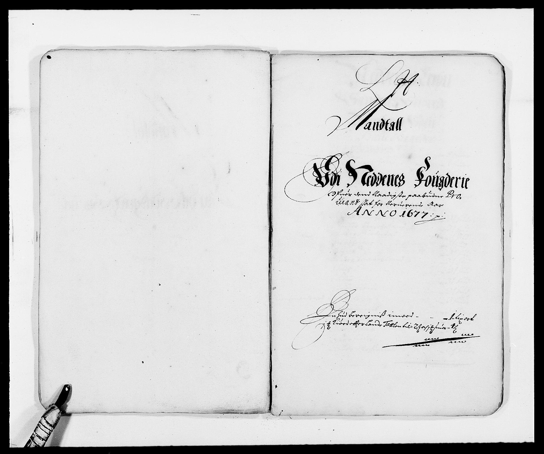 RA, Rentekammeret inntil 1814, Reviderte regnskaper, Fogderegnskap, R39/L2302: Fogderegnskap Nedenes, 1677-1678, s. 154