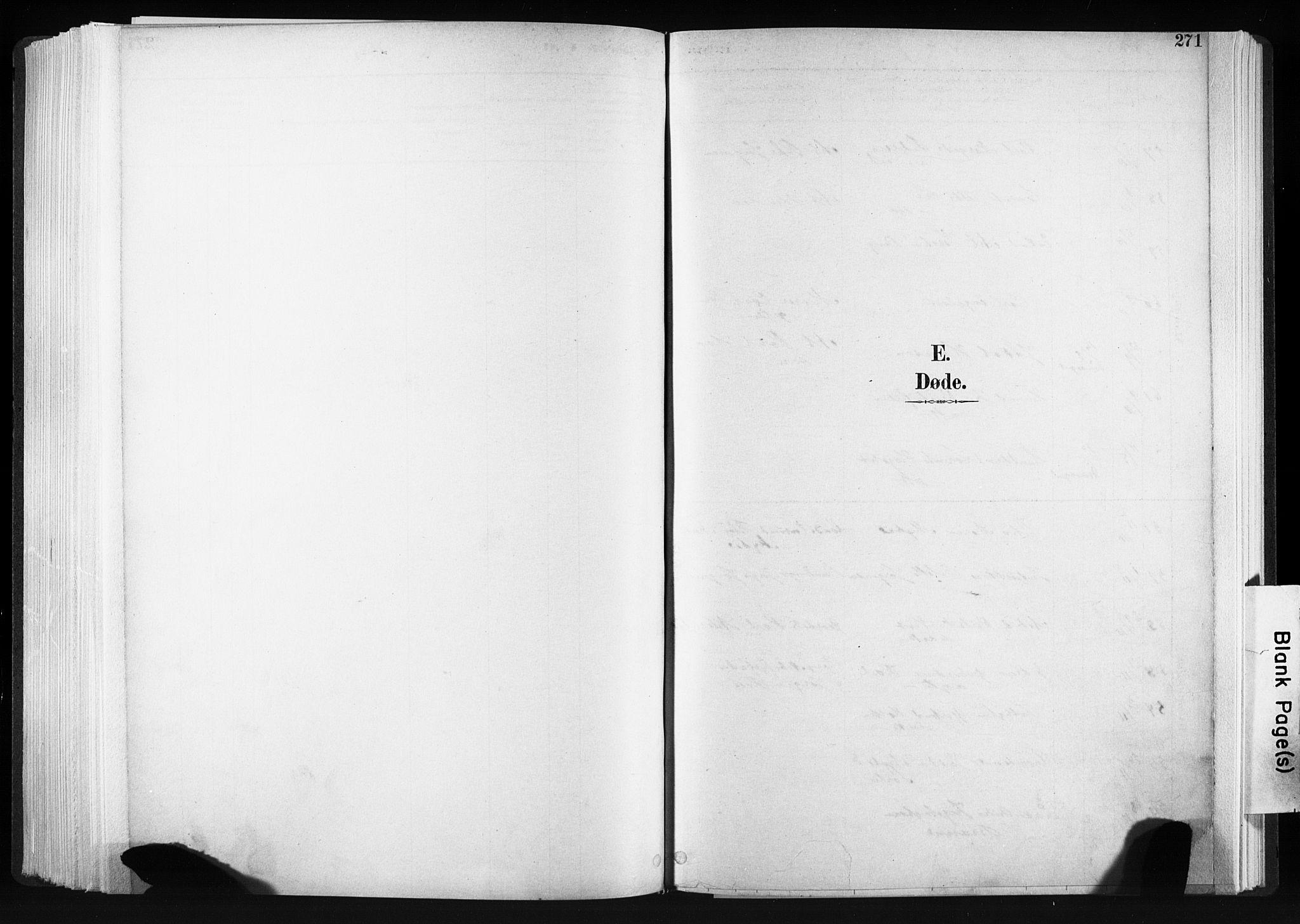 SAT, Ministerialprotokoller, klokkerbøker og fødselsregistre - Sør-Trøndelag, 606/L0300: Ministerialbok nr. 606A15, 1886-1893, s. 271
