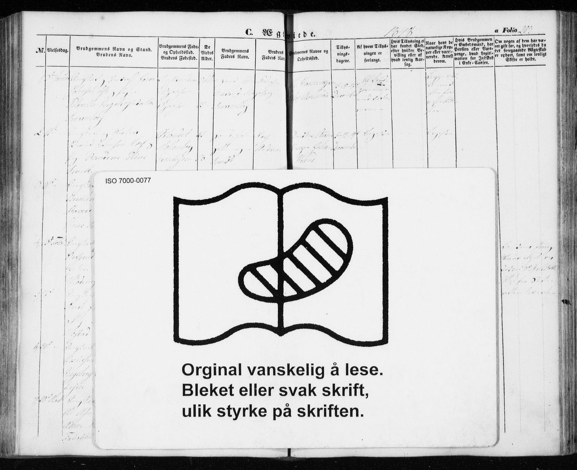 SAT, Ministerialprotokoller, klokkerbøker og fødselsregistre - Sør-Trøndelag, 606/L0291: Ministerialbok nr. 606A06, 1848-1856, s. 203