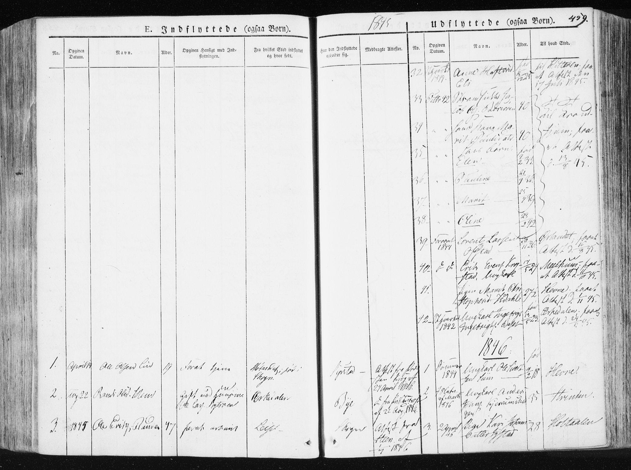 SAT, Ministerialprotokoller, klokkerbøker og fødselsregistre - Sør-Trøndelag, 665/L0771: Ministerialbok nr. 665A06, 1830-1856, s. 459
