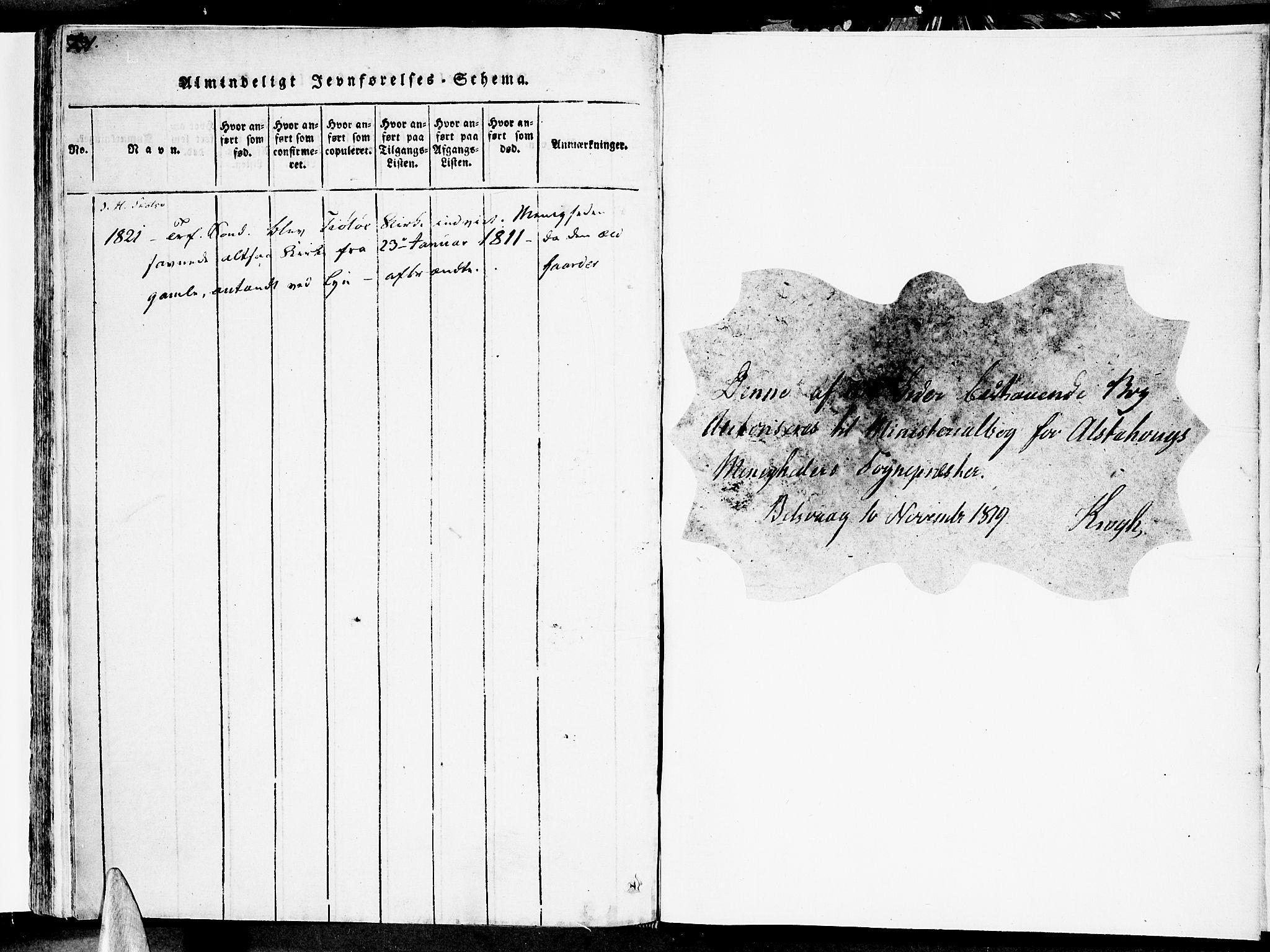 SAT, Ministerialprotokoller, klokkerbøker og fødselsregistre - Nordland, 830/L0445: Ministerialbok nr. 830A09, 1820-1830