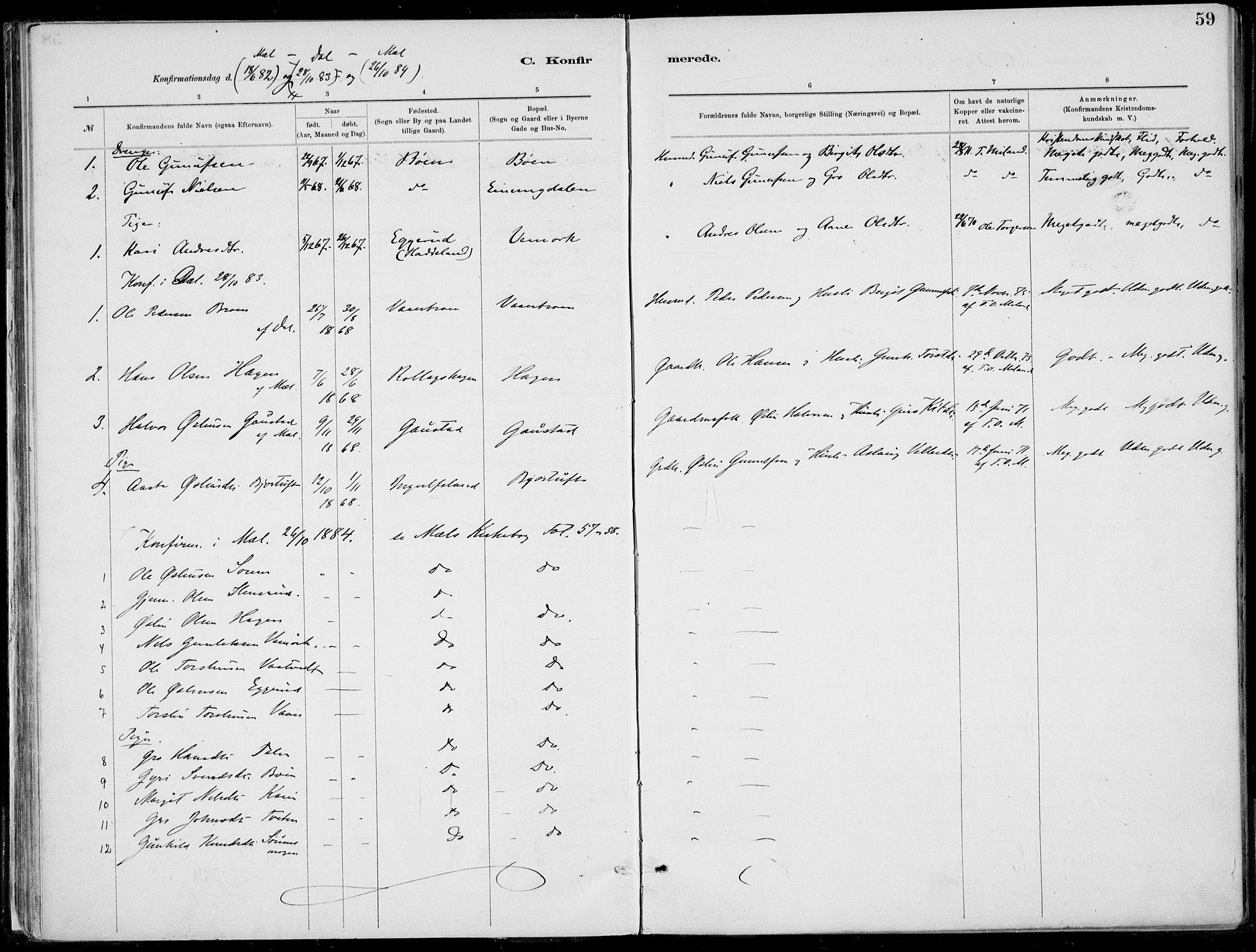 SAKO, Rjukan kirkebøker, F/Fa/L0001: Ministerialbok nr. 1, 1878-1912, s. 59