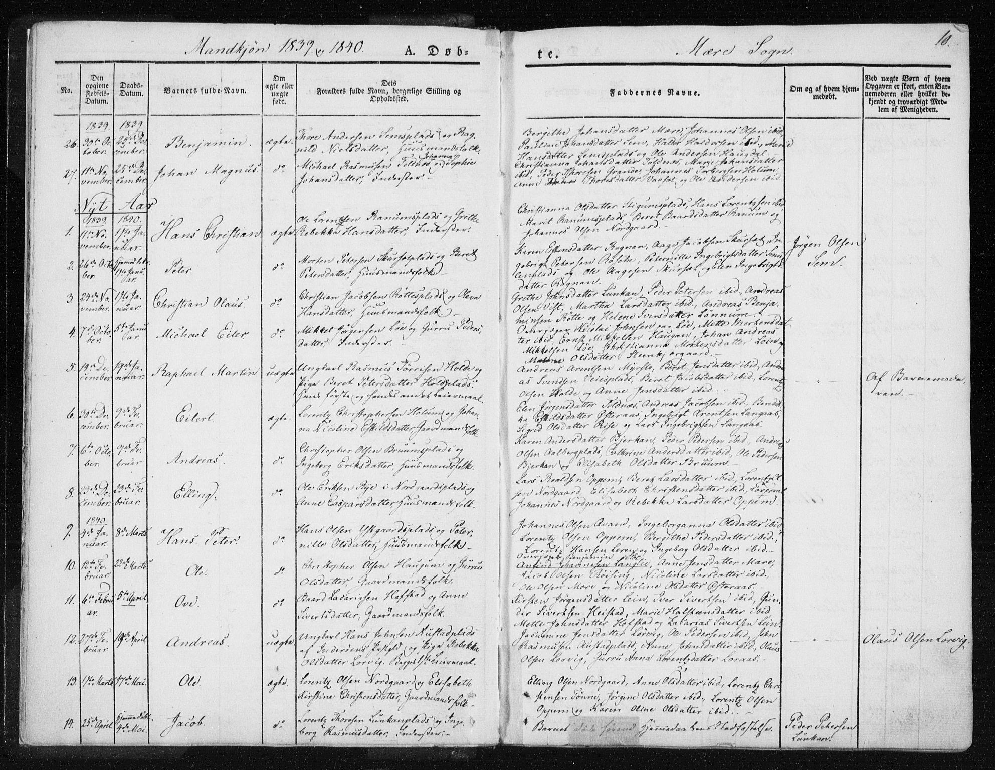 SAT, Ministerialprotokoller, klokkerbøker og fødselsregistre - Nord-Trøndelag, 735/L0339: Ministerialbok nr. 735A06 /1, 1836-1848, s. 10