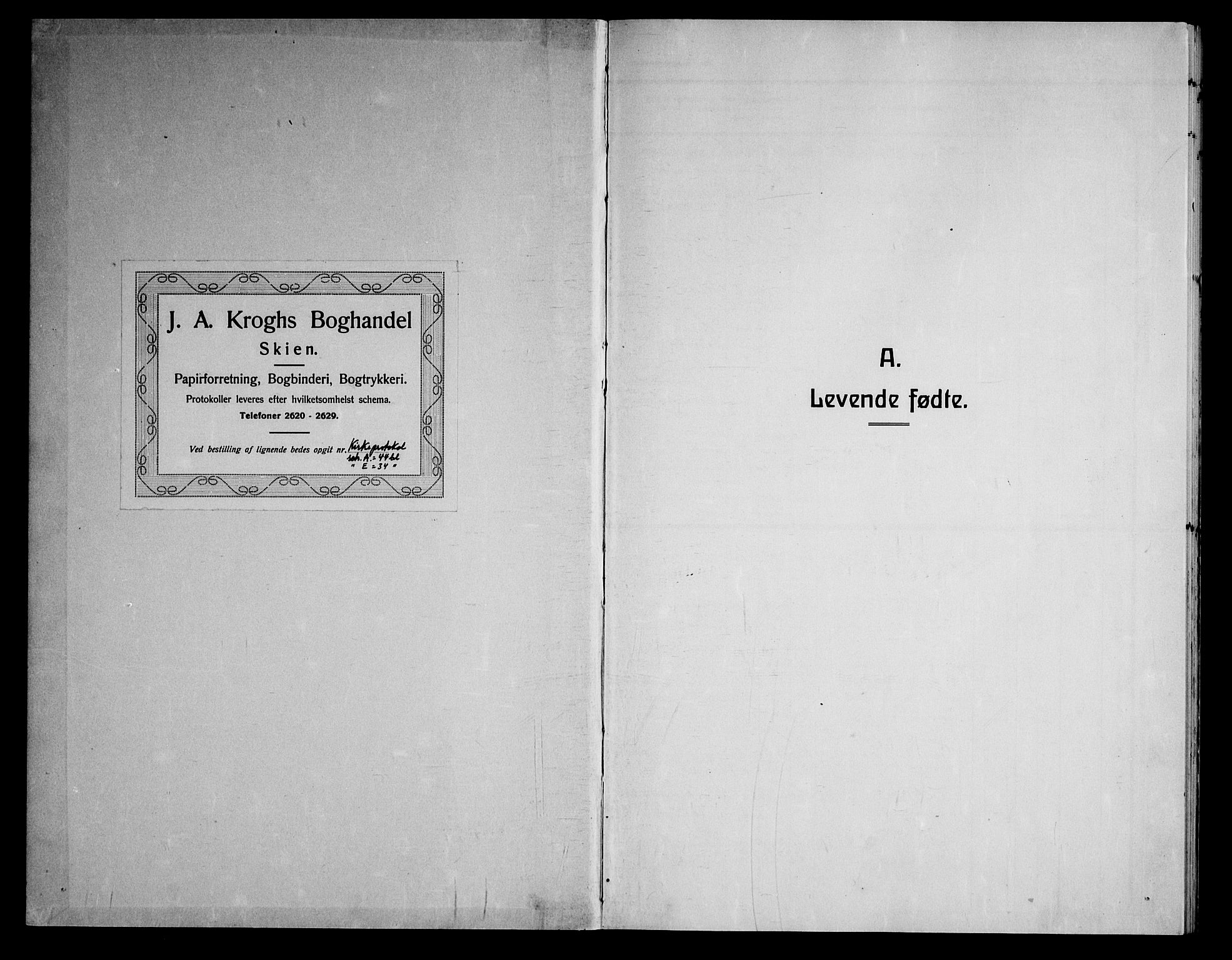 SAKO, Nissedal kirkebøker, G/Gb/L0004: Klokkerbok nr. II 4, 1929-1966