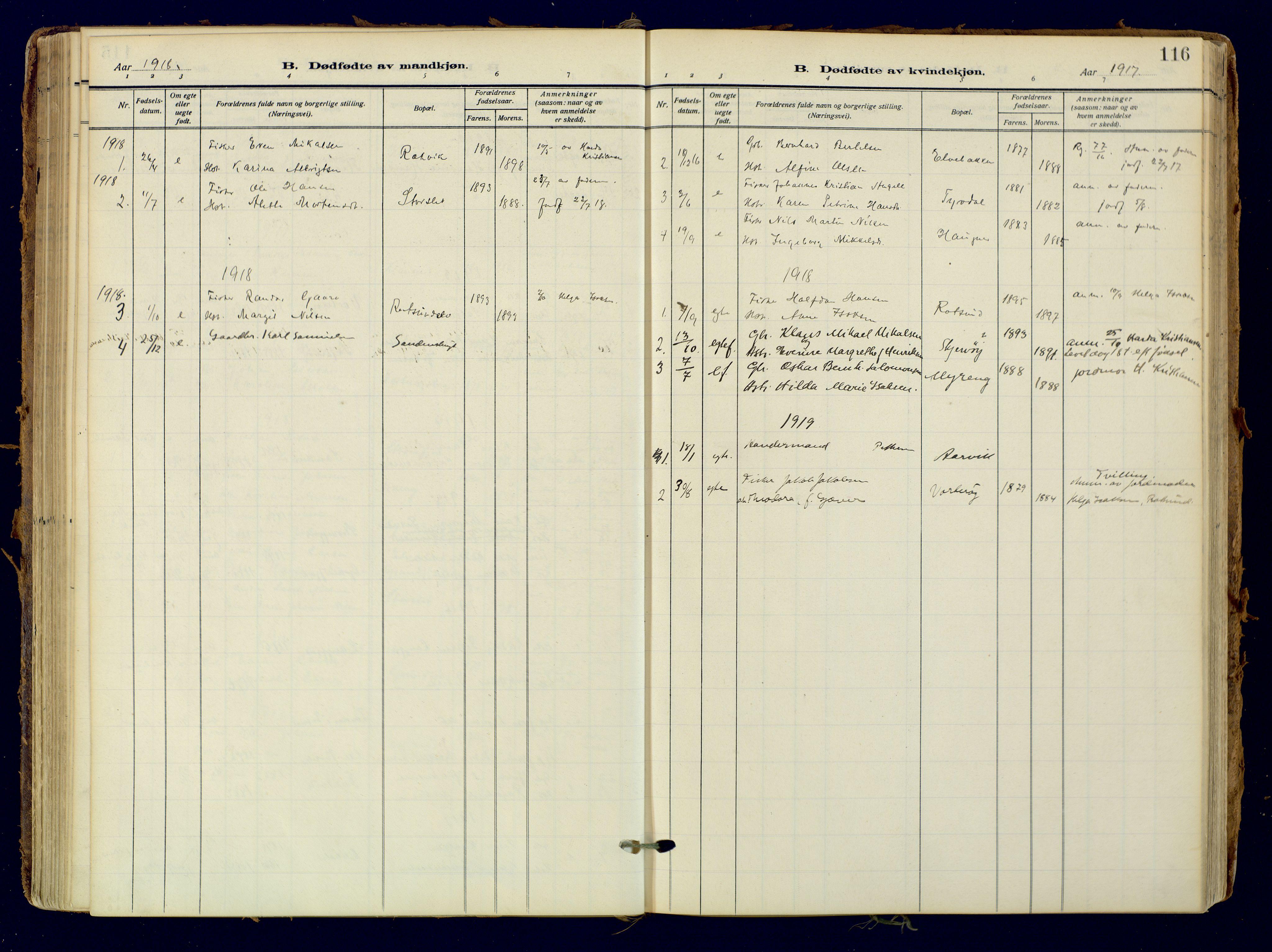 SATØ, Skjervøy sokneprestkontor, H/Ha/Haa: Ministerialbok nr. 18, 1910-1926, s. 116