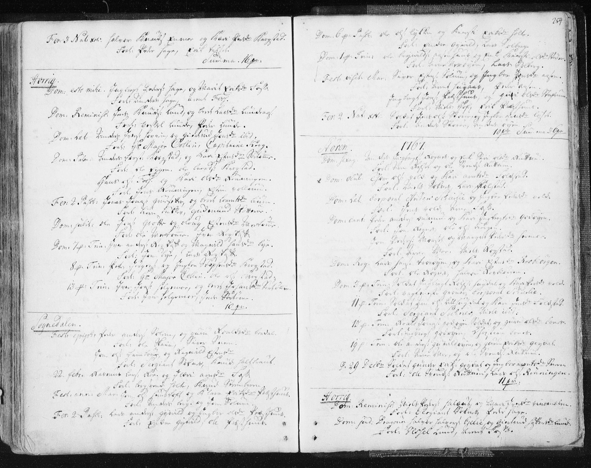 SAT, Ministerialprotokoller, klokkerbøker og fødselsregistre - Sør-Trøndelag, 687/L0991: Ministerialbok nr. 687A02, 1747-1790, s. 254