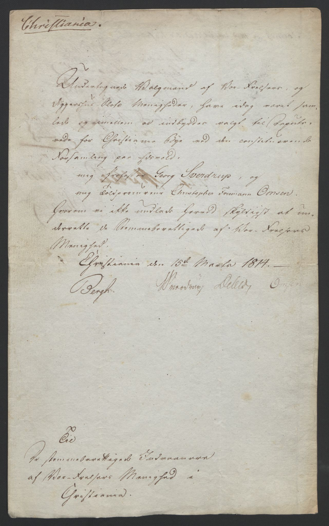 RA, Statsrådssekretariatet, D/Db/L0007: Fullmakter for Eidsvollsrepresentantene i 1814. , 1814, s. 24