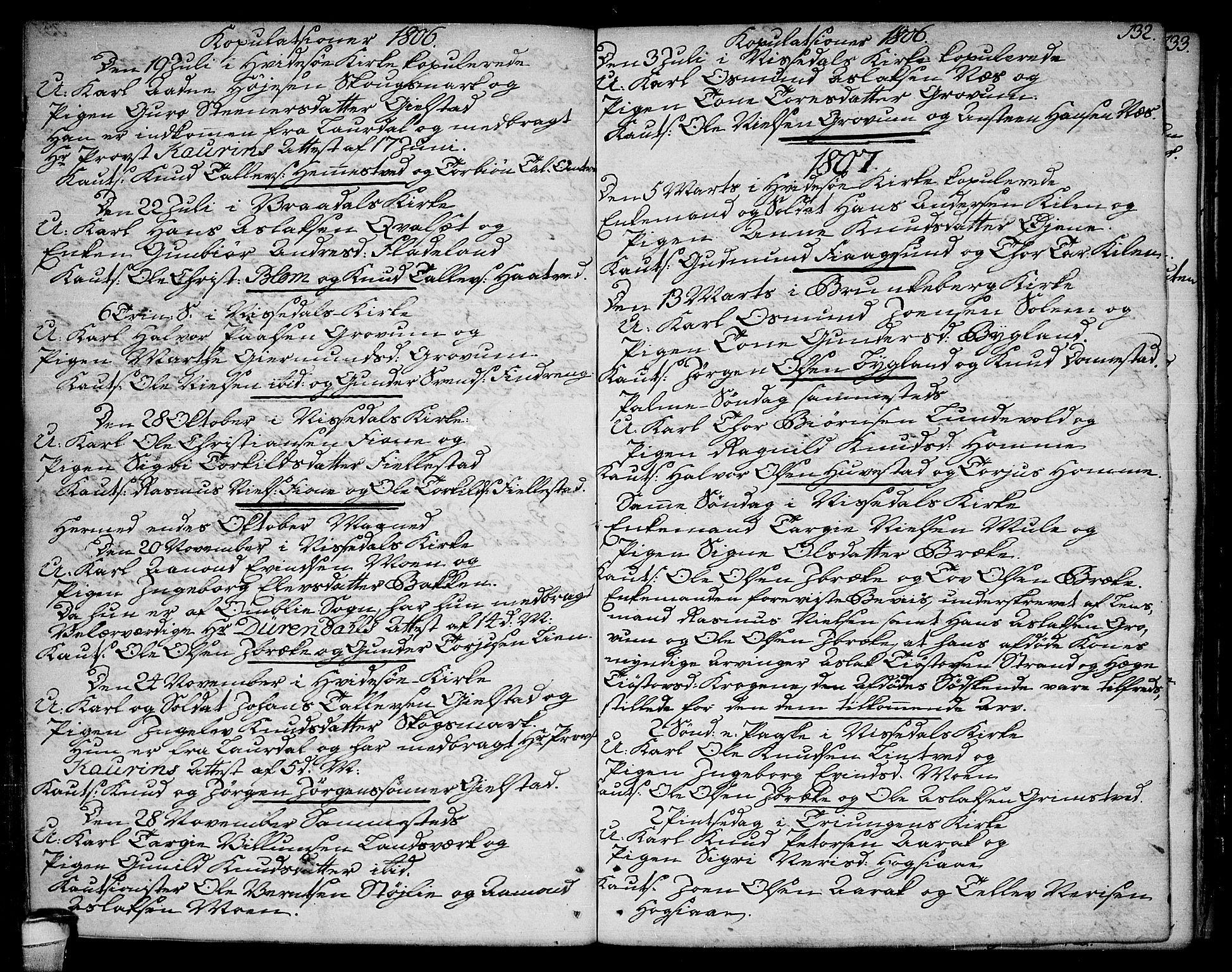 SAKO, Kviteseid kirkebøker, F/Fa/L0004: Ministerialbok nr. I 4, 1800-1814, s. 132