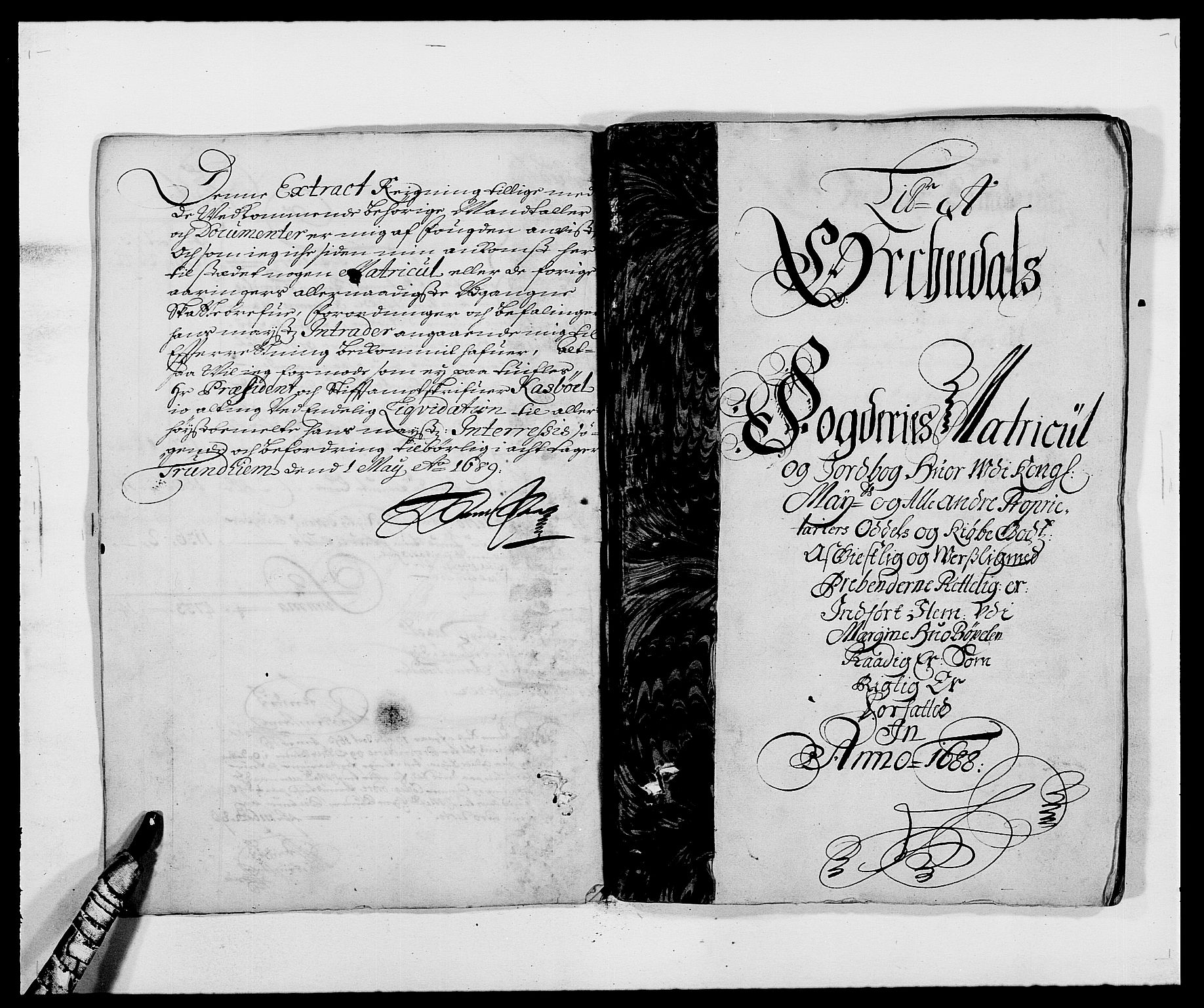 RA, Rentekammeret inntil 1814, Reviderte regnskaper, Fogderegnskap, R58/L3935: Fogderegnskap Orkdal, 1687-1688, s. 202