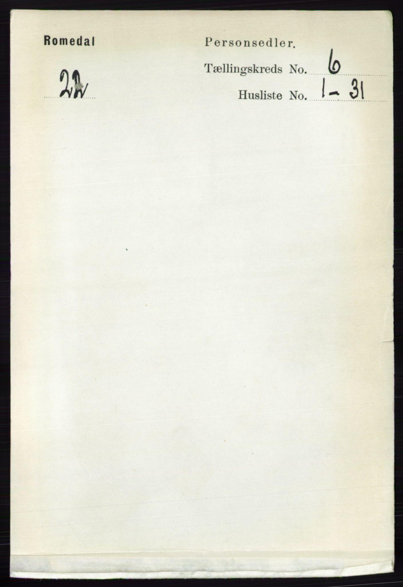 RA, Folketelling 1891 for 0416 Romedal herred, 1891, s. 2951