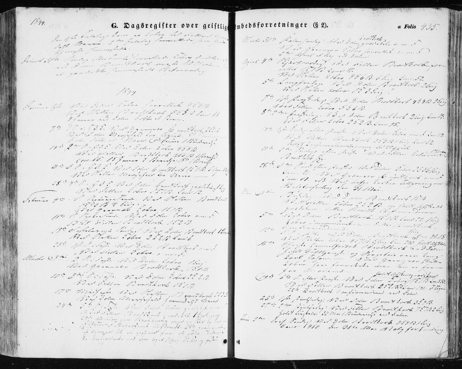 SAT, Ministerialprotokoller, klokkerbøker og fødselsregistre - Sør-Trøndelag, 634/L0529: Ministerialbok nr. 634A05, 1843-1851, s. 435