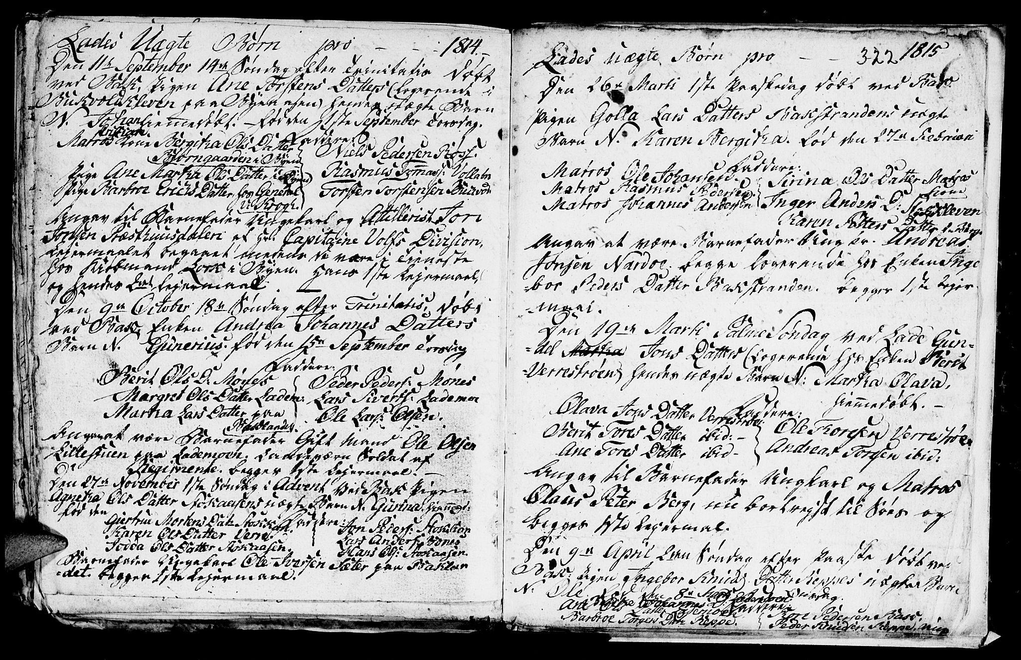 SAT, Ministerialprotokoller, klokkerbøker og fødselsregistre - Sør-Trøndelag, 606/L0305: Klokkerbok nr. 606C01, 1757-1819, s. 322