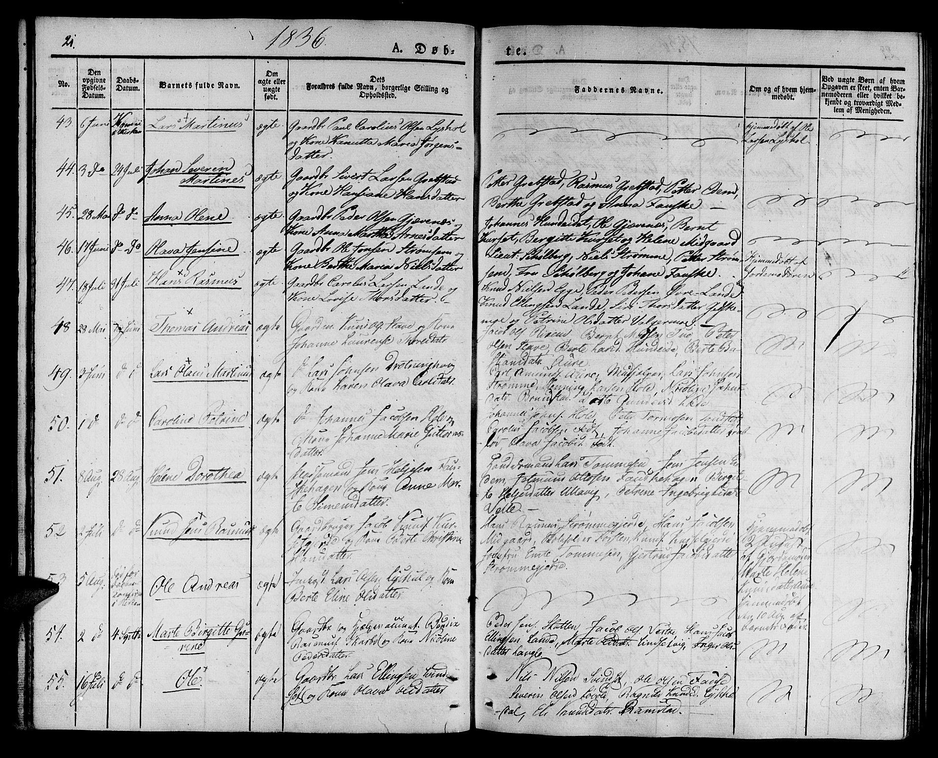 SAT, Ministerialprotokoller, klokkerbøker og fødselsregistre - Møre og Romsdal, 522/L0311: Ministerialbok nr. 522A06, 1832-1842, s. 21