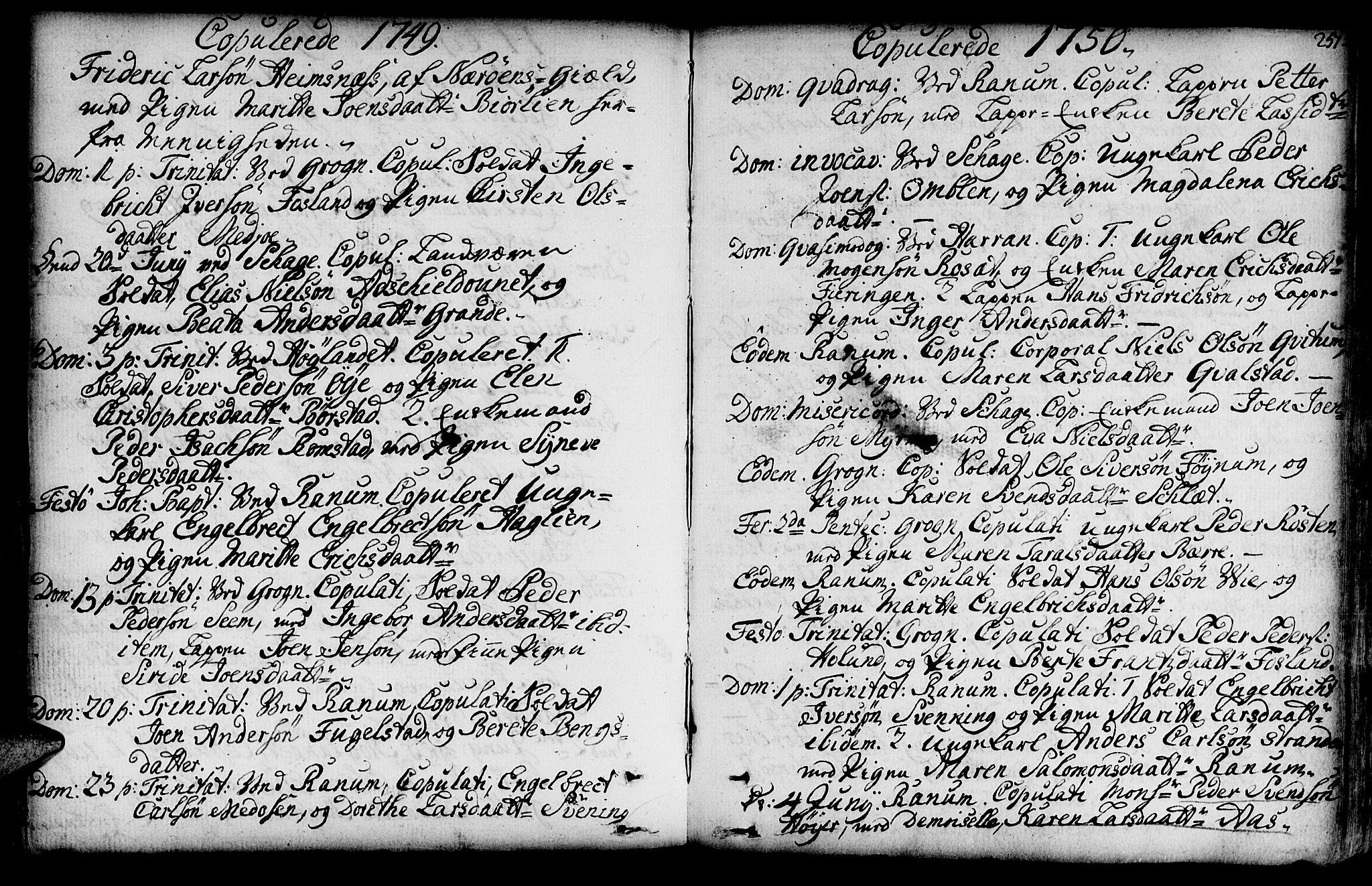 SAT, Ministerialprotokoller, klokkerbøker og fødselsregistre - Nord-Trøndelag, 764/L0542: Ministerialbok nr. 764A02, 1748-1779, s. 251