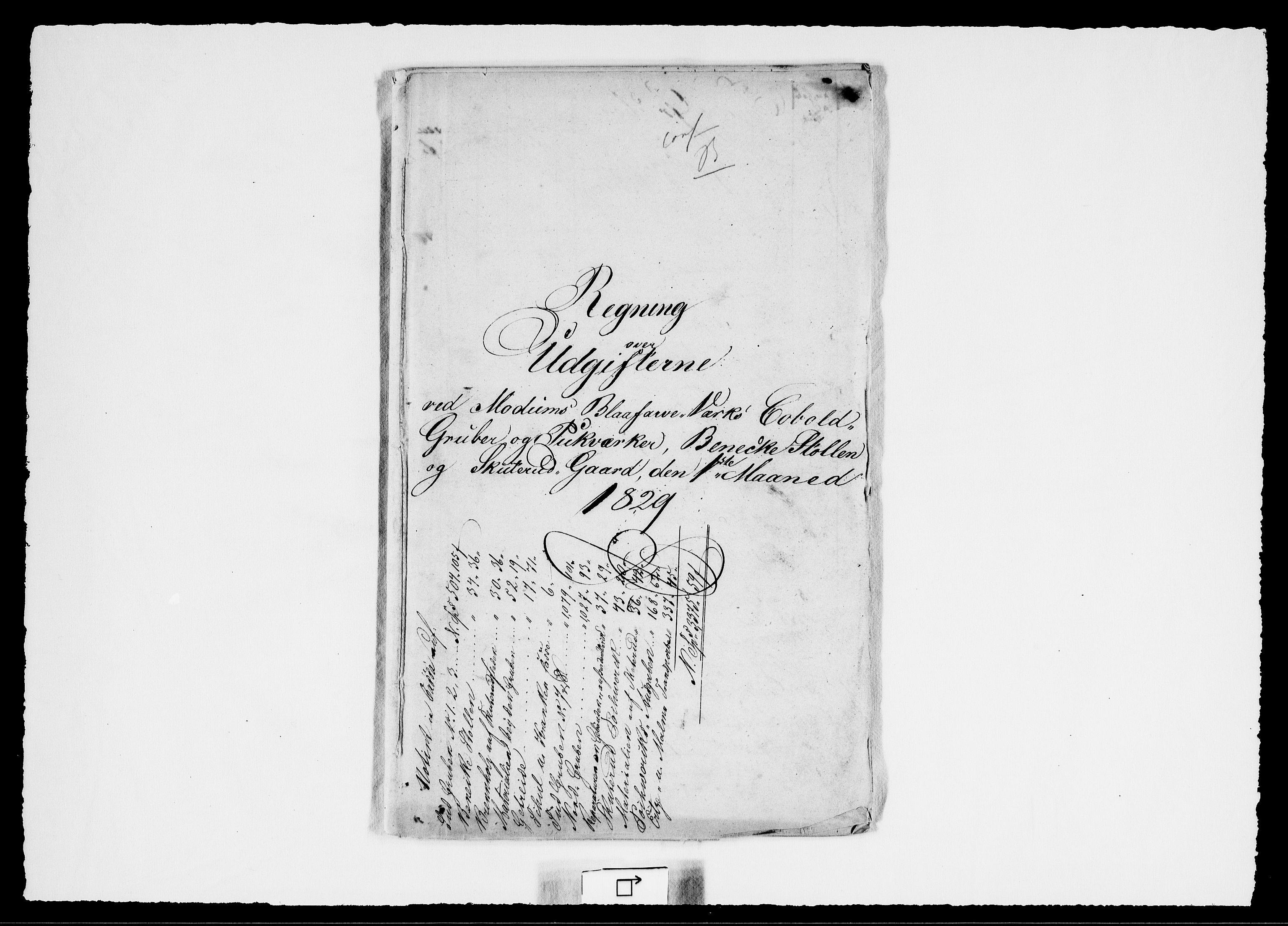 RA, Modums Blaafarveværk, G/Gd/Gdd/L0257, 1829-1830, s. 2