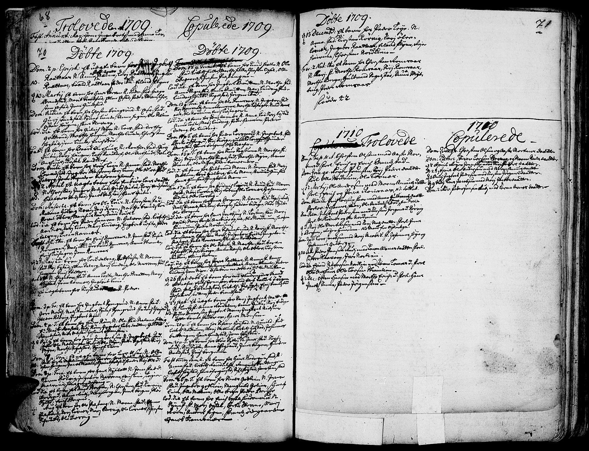SAH, Ringebu prestekontor, Ministerialbok nr. 1, 1696-1733, s. 70-71