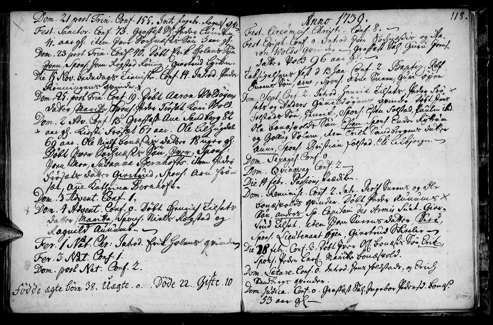 SAT, Ministerialprotokoller, klokkerbøker og fødselsregistre - Sør-Trøndelag, 687/L0990: Ministerialbok nr. 687A01, 1690-1746, s. 118