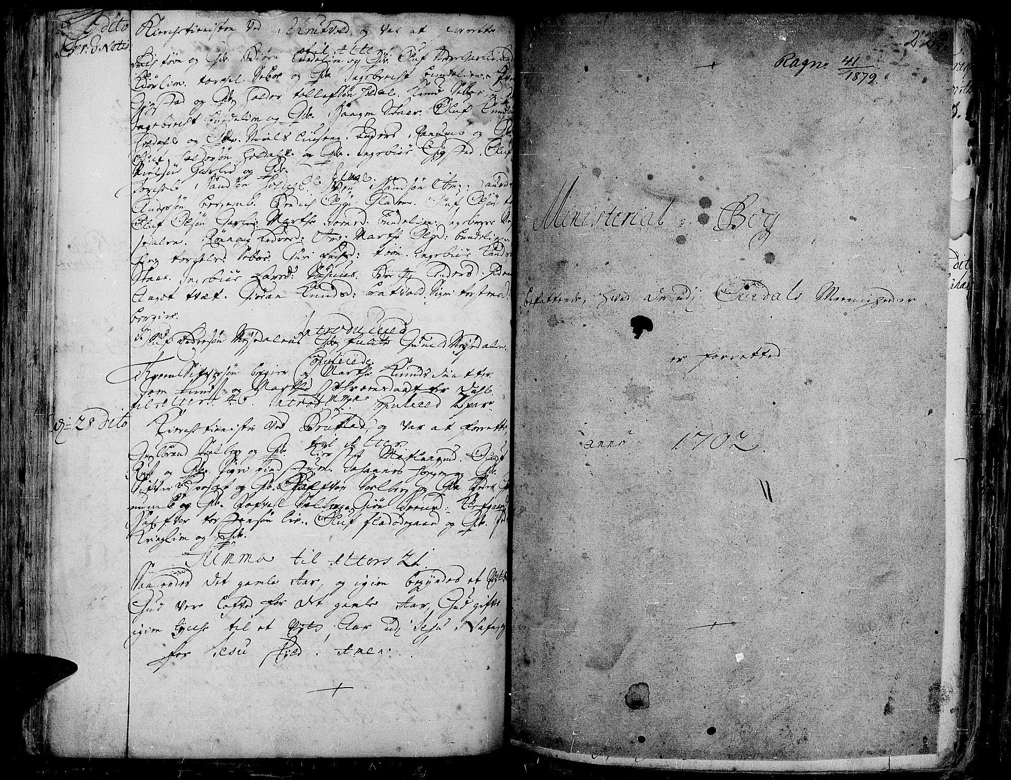SAH, Aurdal prestekontor, Ministerialbok nr. 1-3, 1692-1730, s. 229