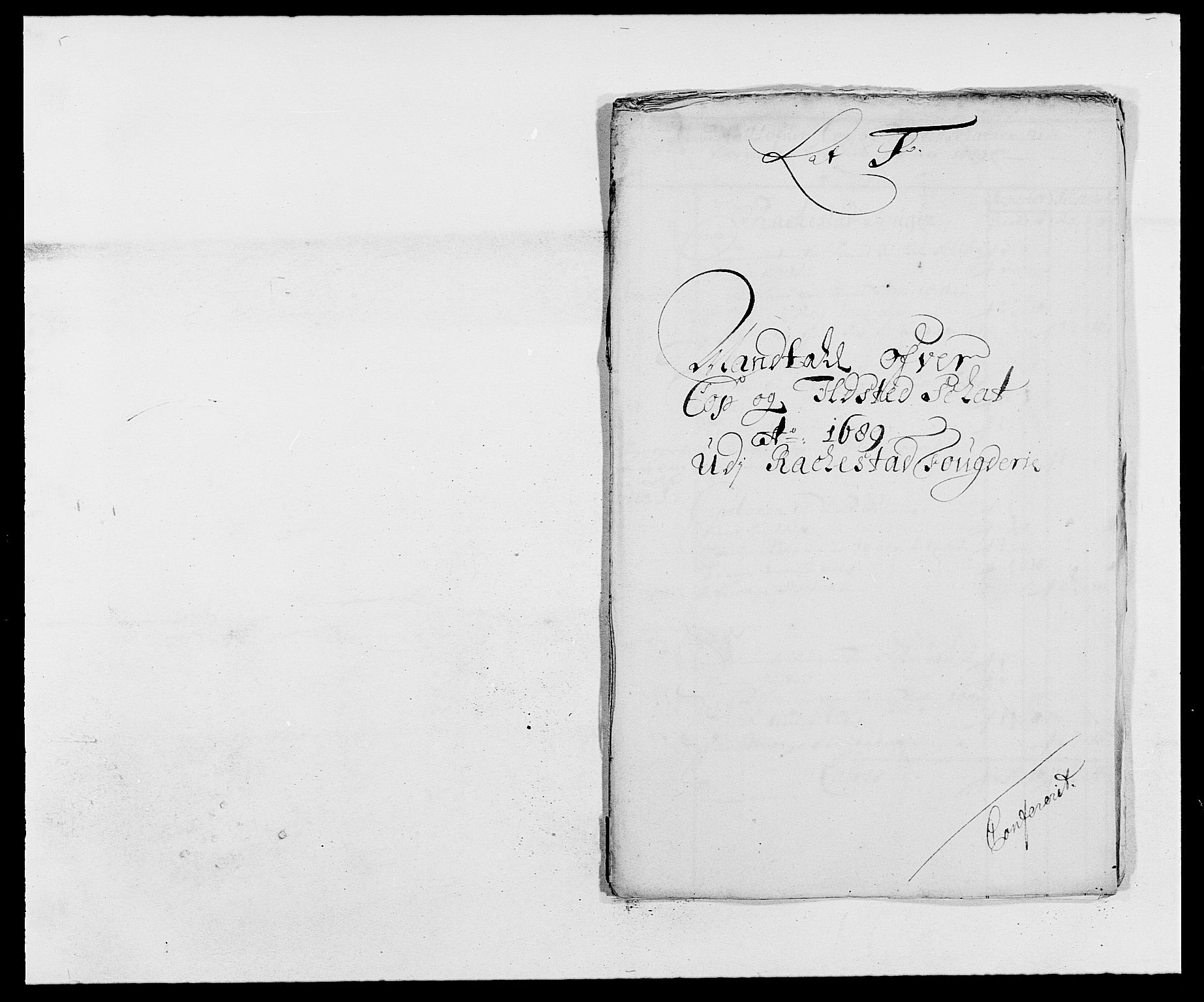 RA, Rentekammeret inntil 1814, Reviderte regnskaper, Fogderegnskap, R05/L0277: Fogderegnskap Rakkestad, 1689-1690, s. 137