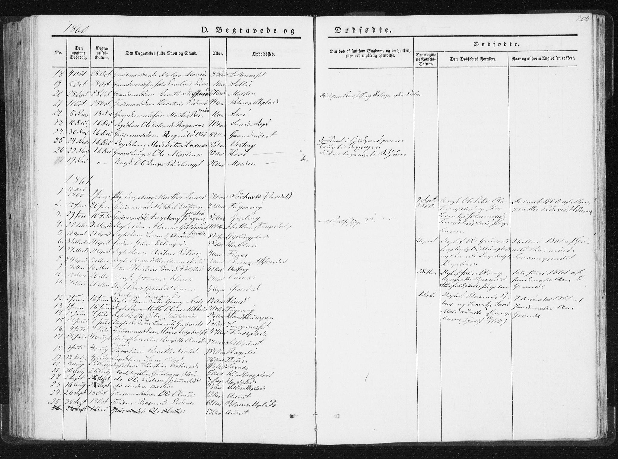 SAT, Ministerialprotokoller, klokkerbøker og fødselsregistre - Nord-Trøndelag, 744/L0418: Ministerialbok nr. 744A02, 1843-1866, s. 206