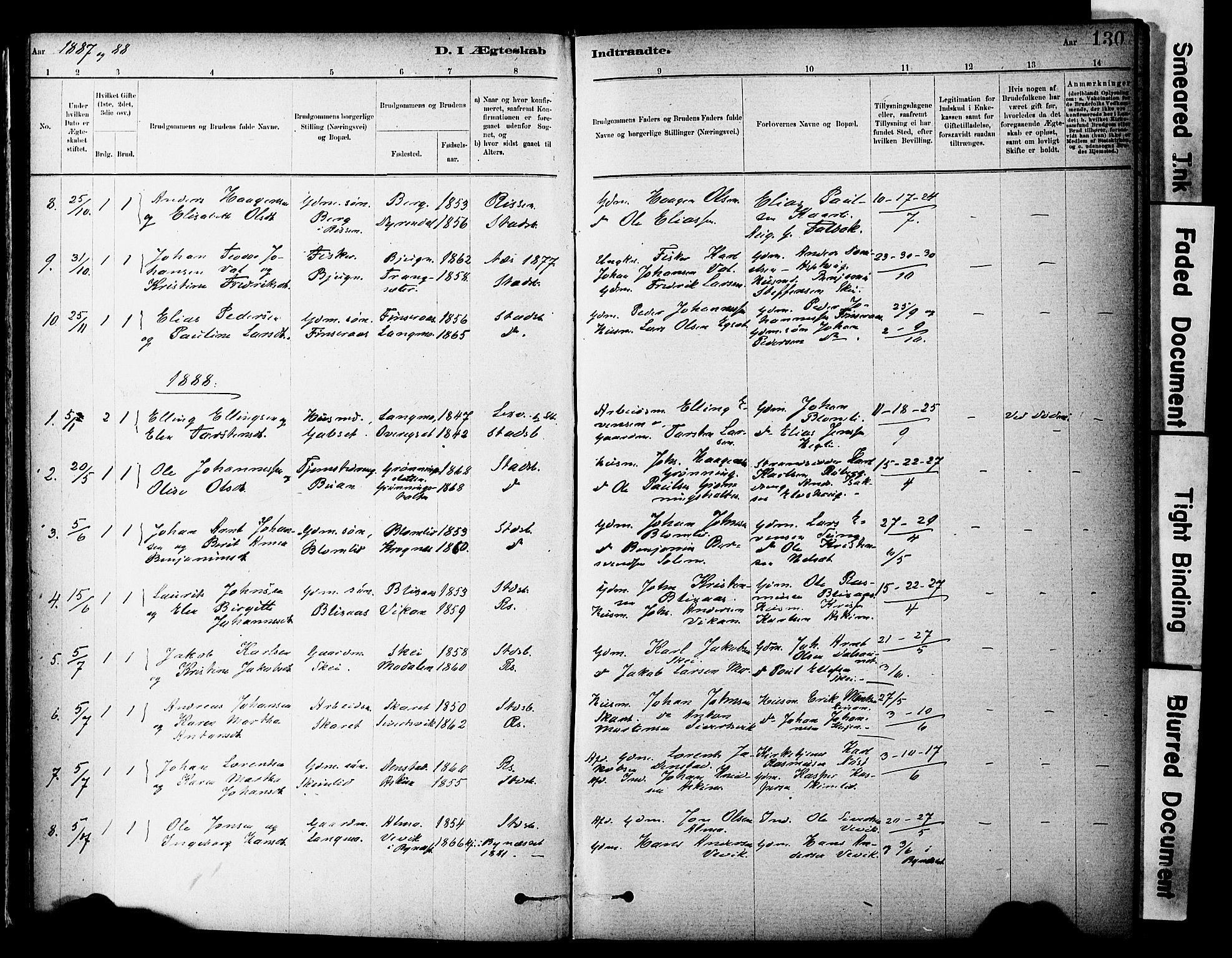 SAT, Ministerialprotokoller, klokkerbøker og fødselsregistre - Sør-Trøndelag, 646/L0615: Ministerialbok nr. 646A13, 1885-1900, s. 130