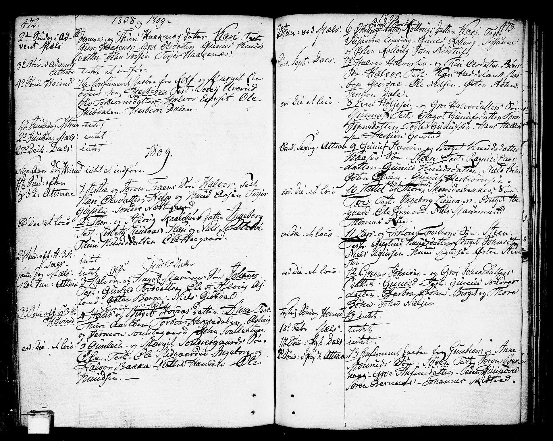 SAKO, Tinn kirkebøker, F/Fa/L0002: Ministerialbok nr. I 2, 1757-1810, s. 472-473