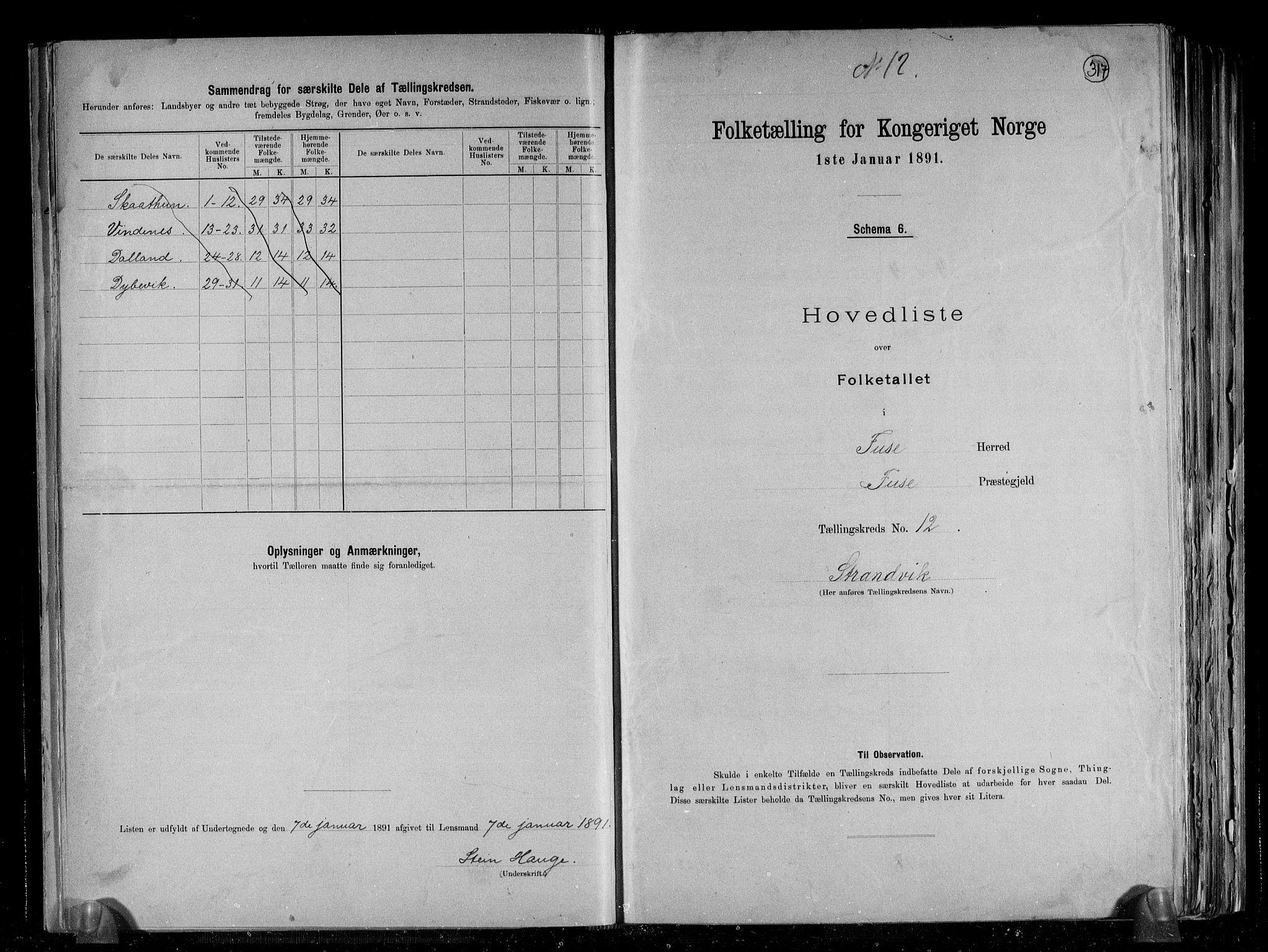RA, Folketelling 1891 for 1241 Fusa herred, 1891, s. 26