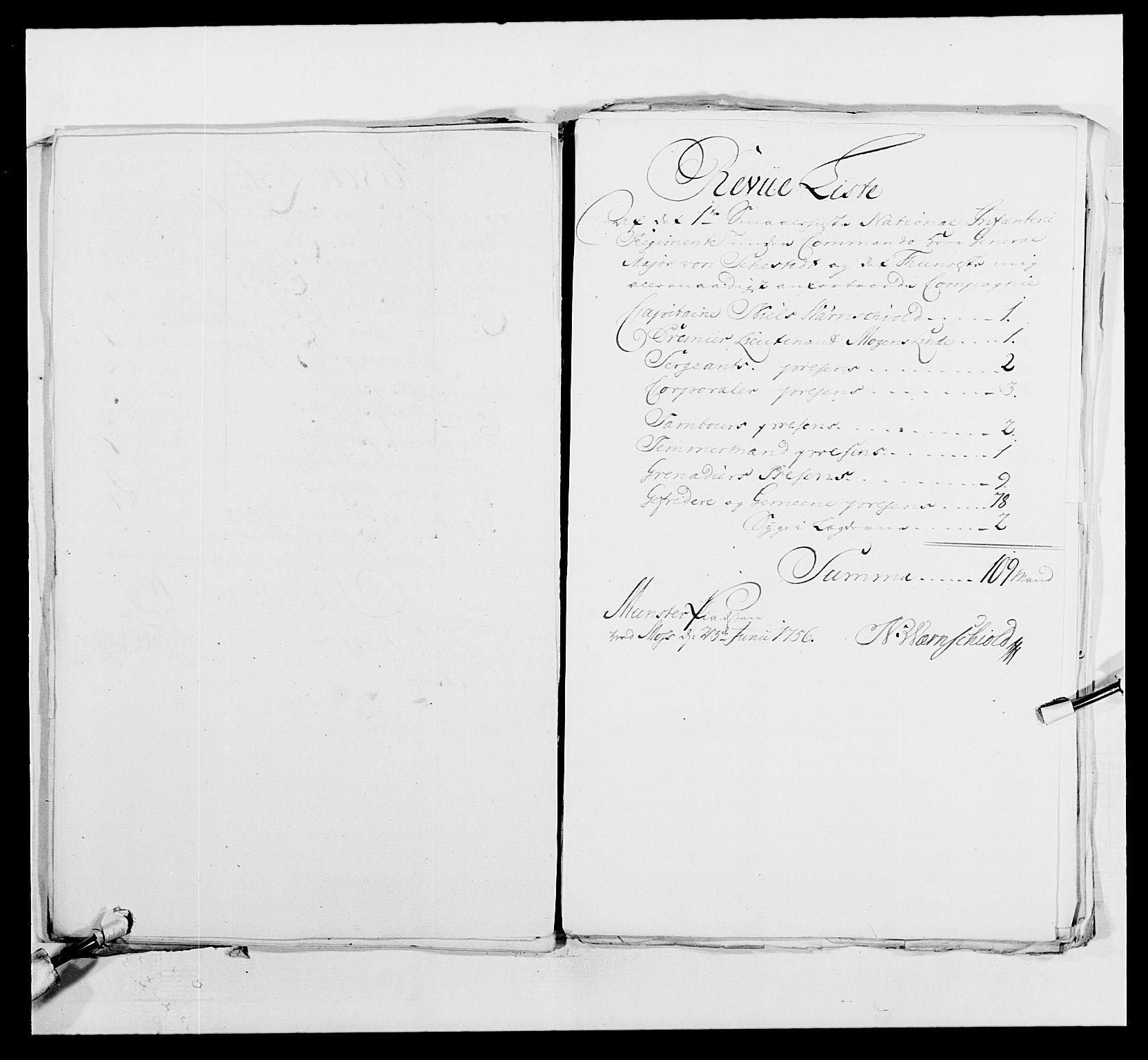 RA, Kommanderende general (KG I) med Det norske krigsdirektorium, E/Ea/L0495: 1. Smålenske regiment, 1732-1763, s. 610