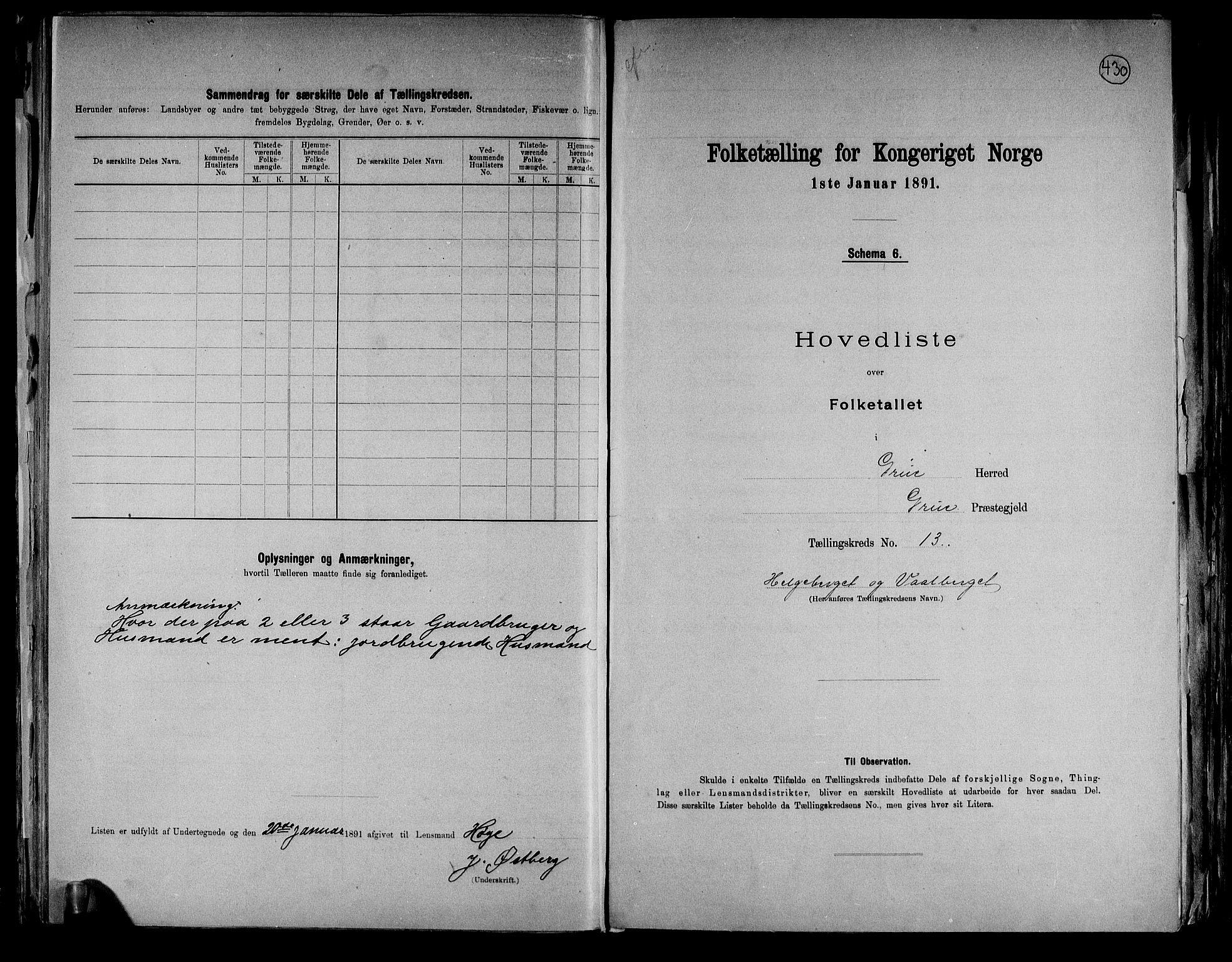RA, Folketelling 1891 for 0423 Grue herred, 1891, s. 35