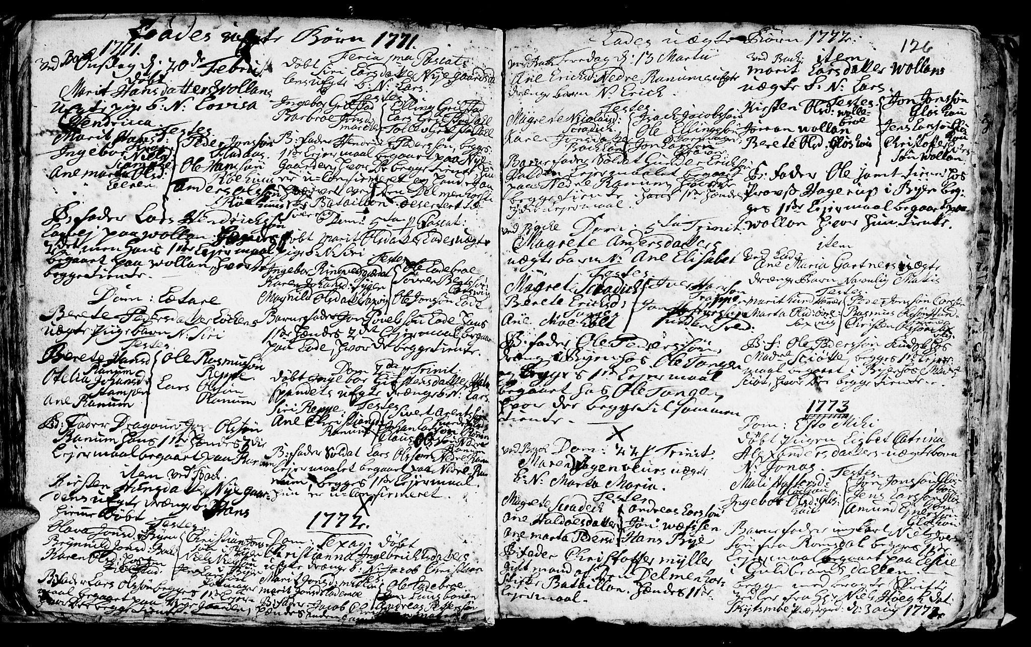 SAT, Ministerialprotokoller, klokkerbøker og fødselsregistre - Sør-Trøndelag, 606/L0305: Klokkerbok nr. 606C01, 1757-1819, s. 126