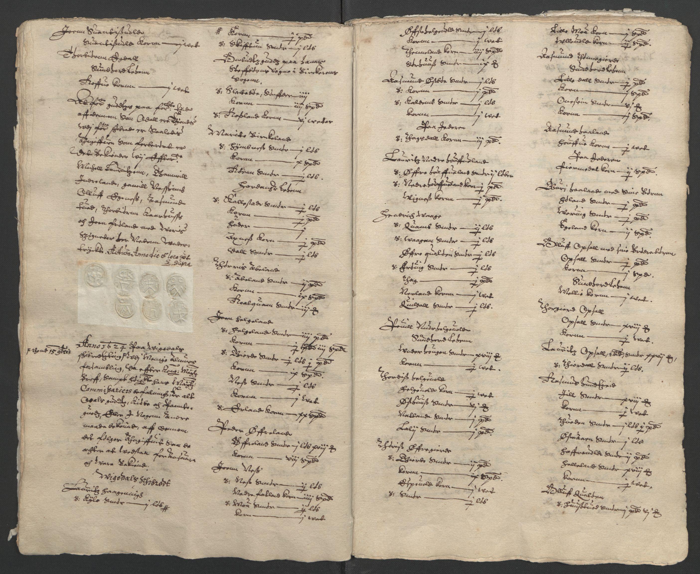 RA, Stattholderembetet 1572-1771, Ek/L0010: Jordebøker til utlikning av rosstjeneste 1624-1626:, 1624-1626, s. 17