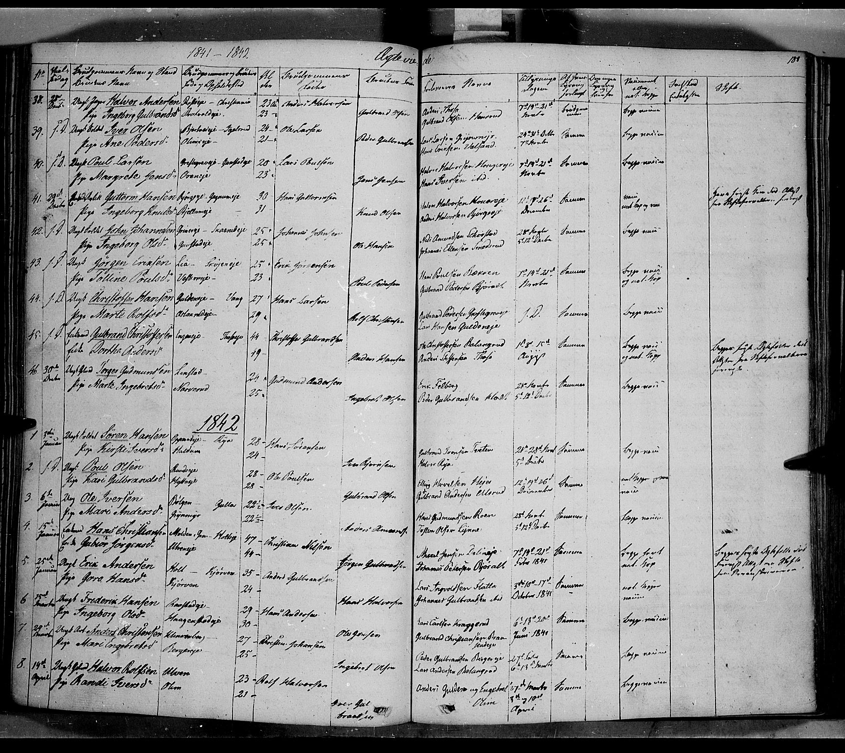 SAH, Jevnaker prestekontor, Ministerialbok nr. 6, 1837-1857, s. 180