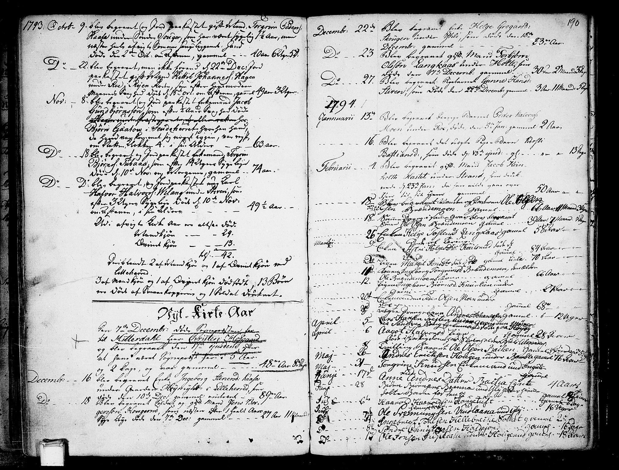 SAKO, Heddal kirkebøker, F/Fa/L0004: Ministerialbok nr. I 4, 1784-1814, s. 190