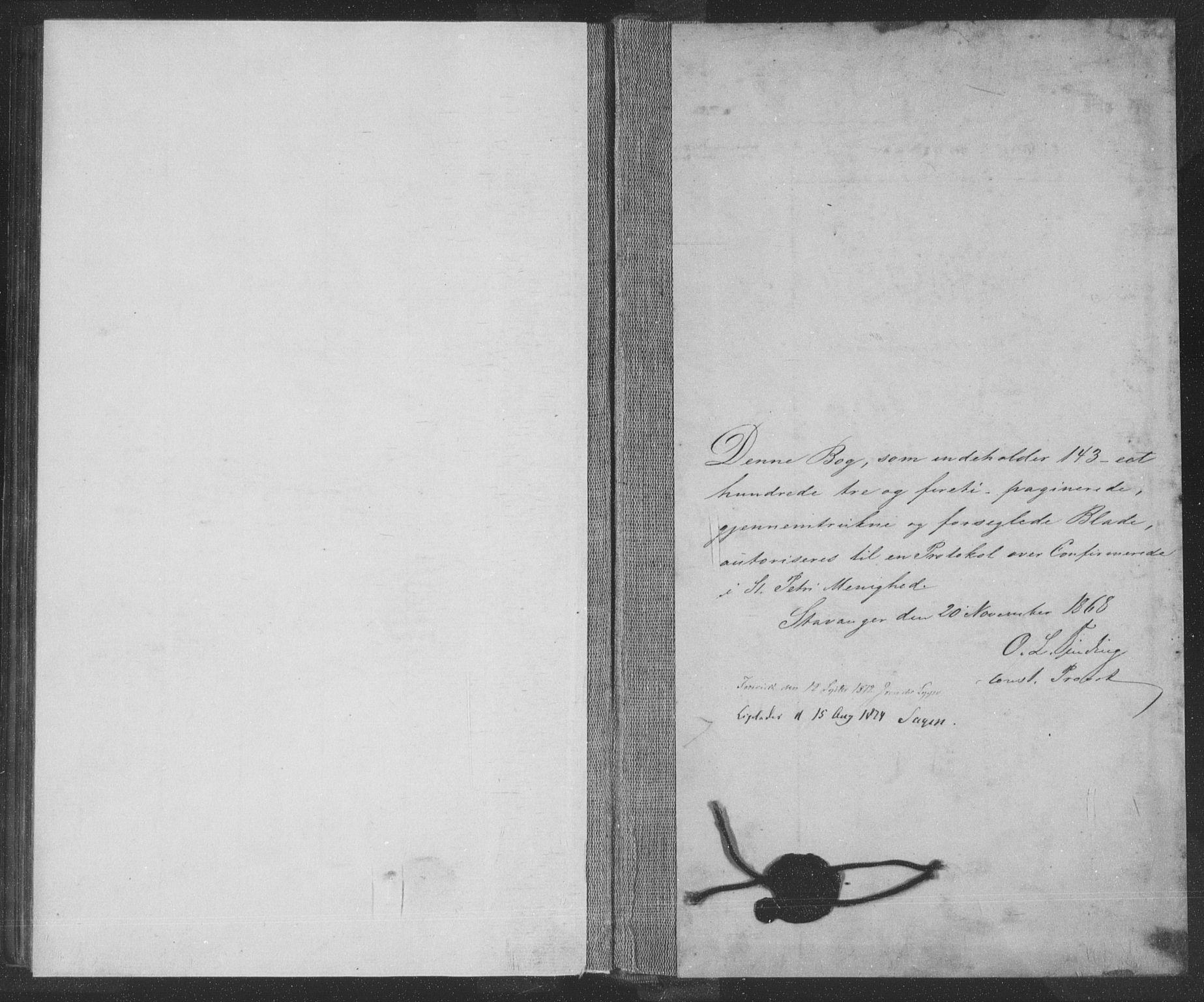 SAST, St. Petri sokneprestkontor, 30/30BA/L0009: Ministerialbok nr. A 9, 1868-1875