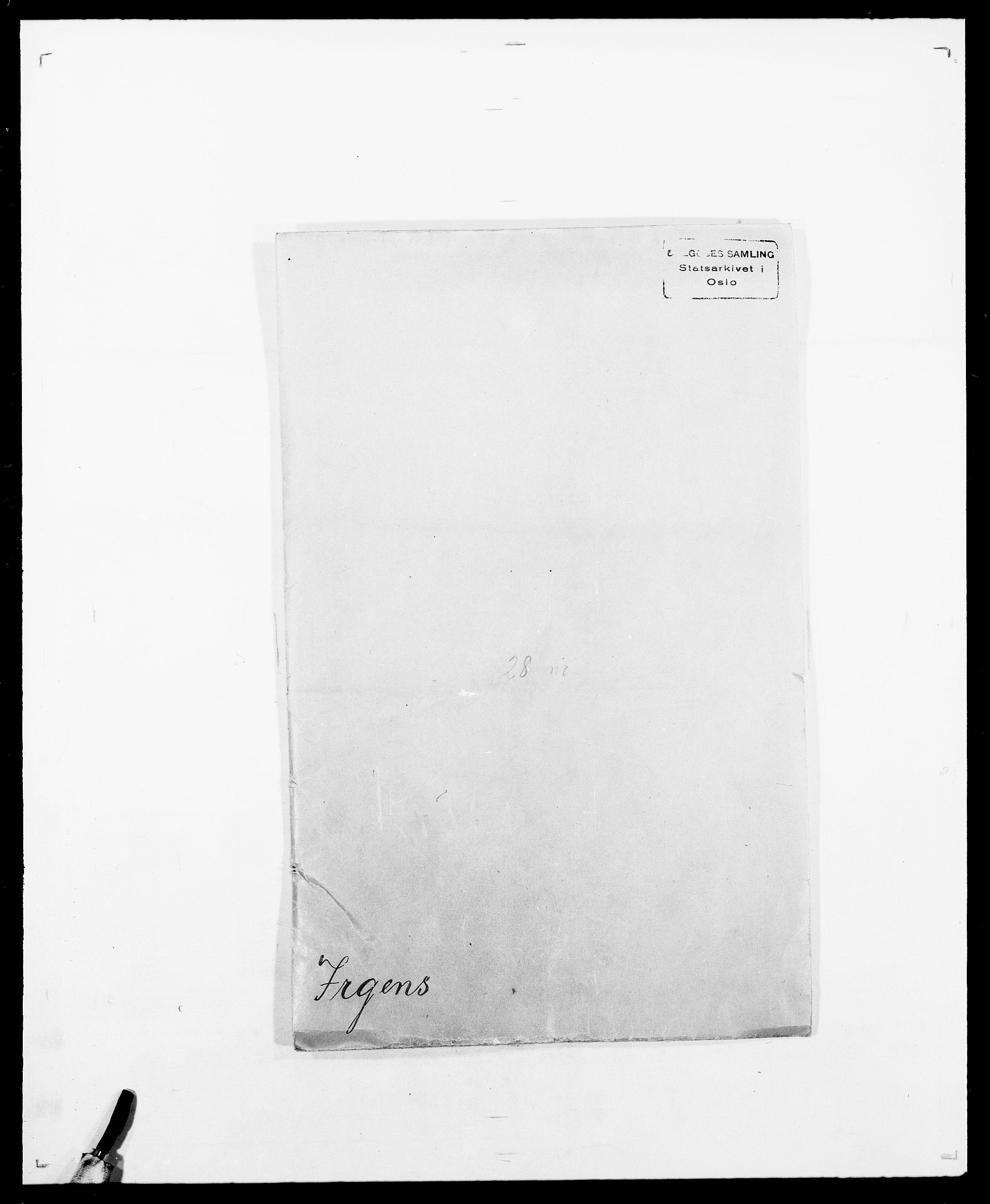 SAO, Delgobe, Charles Antoine - samling, D/Da/L0020: Irgens - Kjøsterud, s. 1