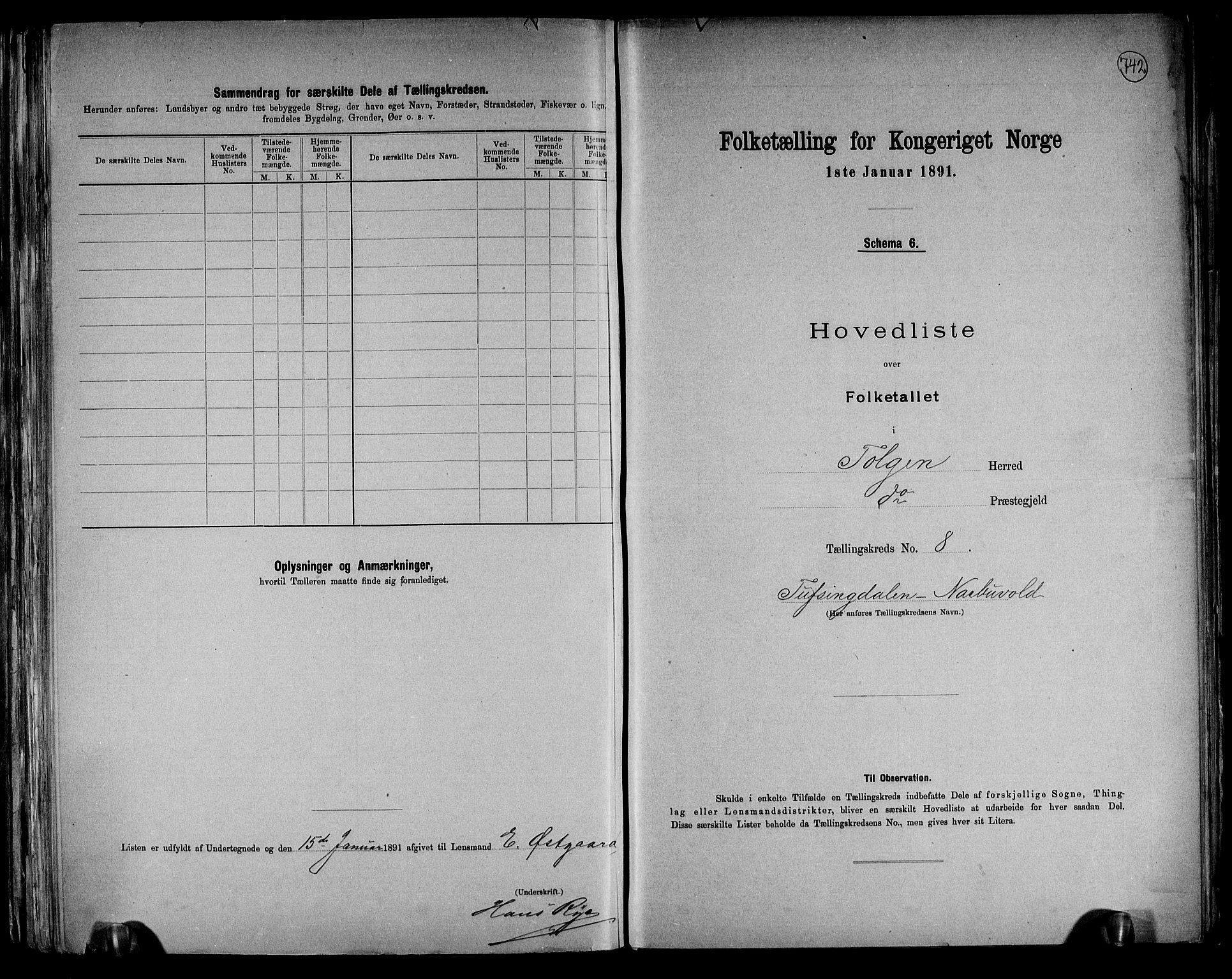 RA, Folketelling 1891 for 0436 Tolga herred, 1891, s. 28